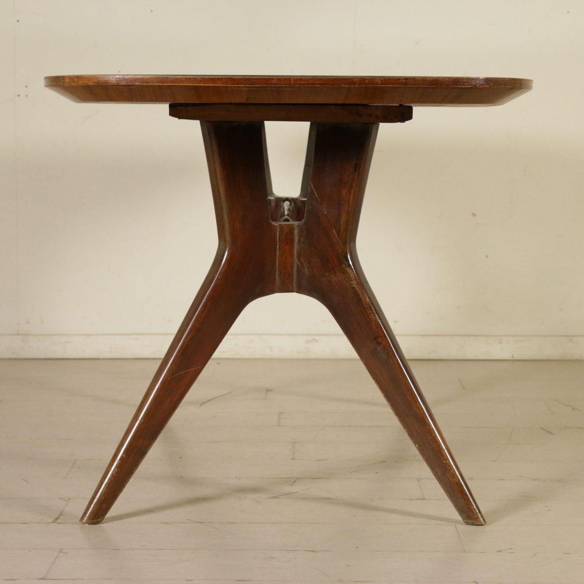 Italienischer Vintage Esstisch aus gebeiztem Holz & Glas bei Pamono ...