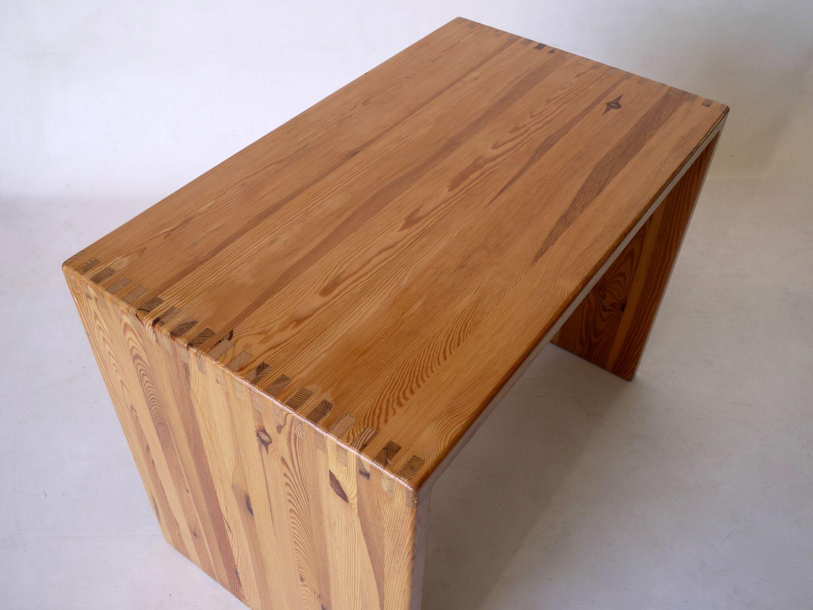 Kleiner skandinavischer kiefernholz schreibtisch 1970er bei pamono kaufen - Schreibtisch kiefernholz ...