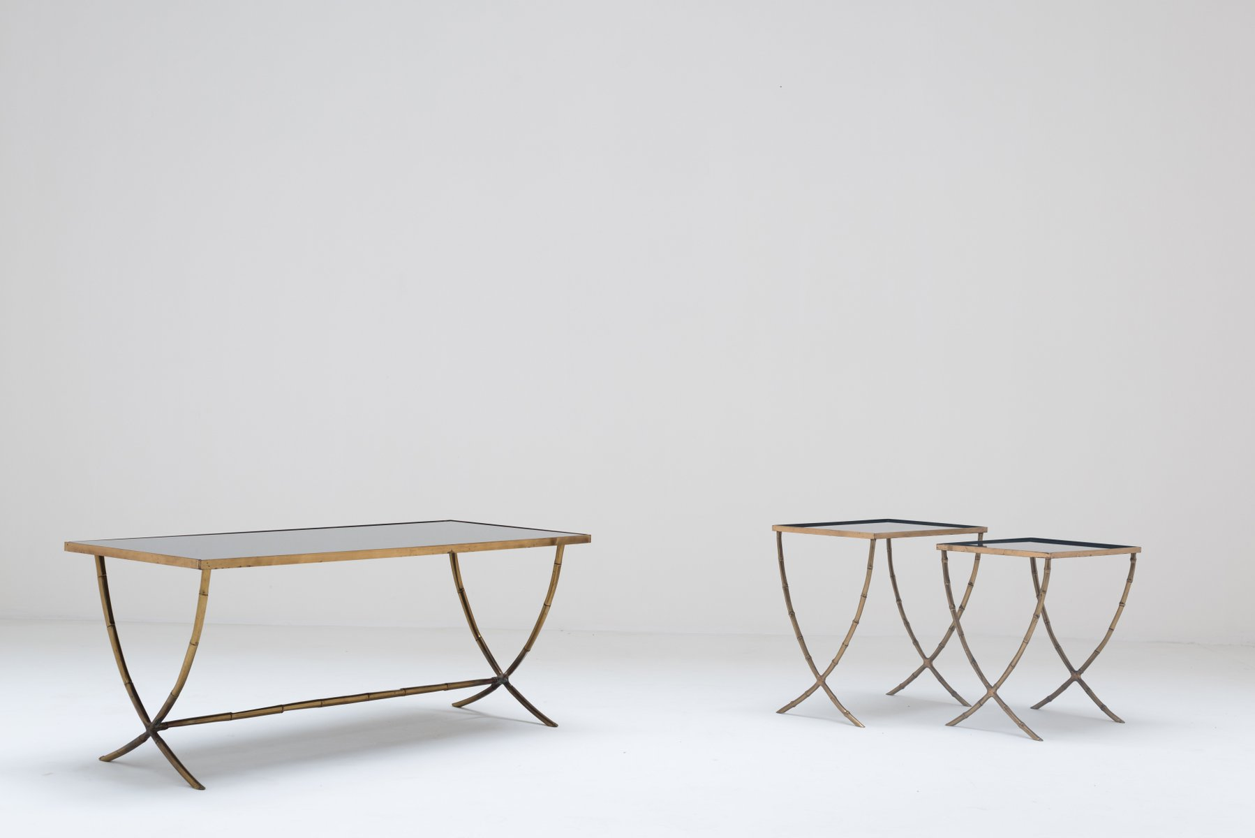 Bronze Coffee Table U0026 Nesting Tables From Maison Baguès, 1959