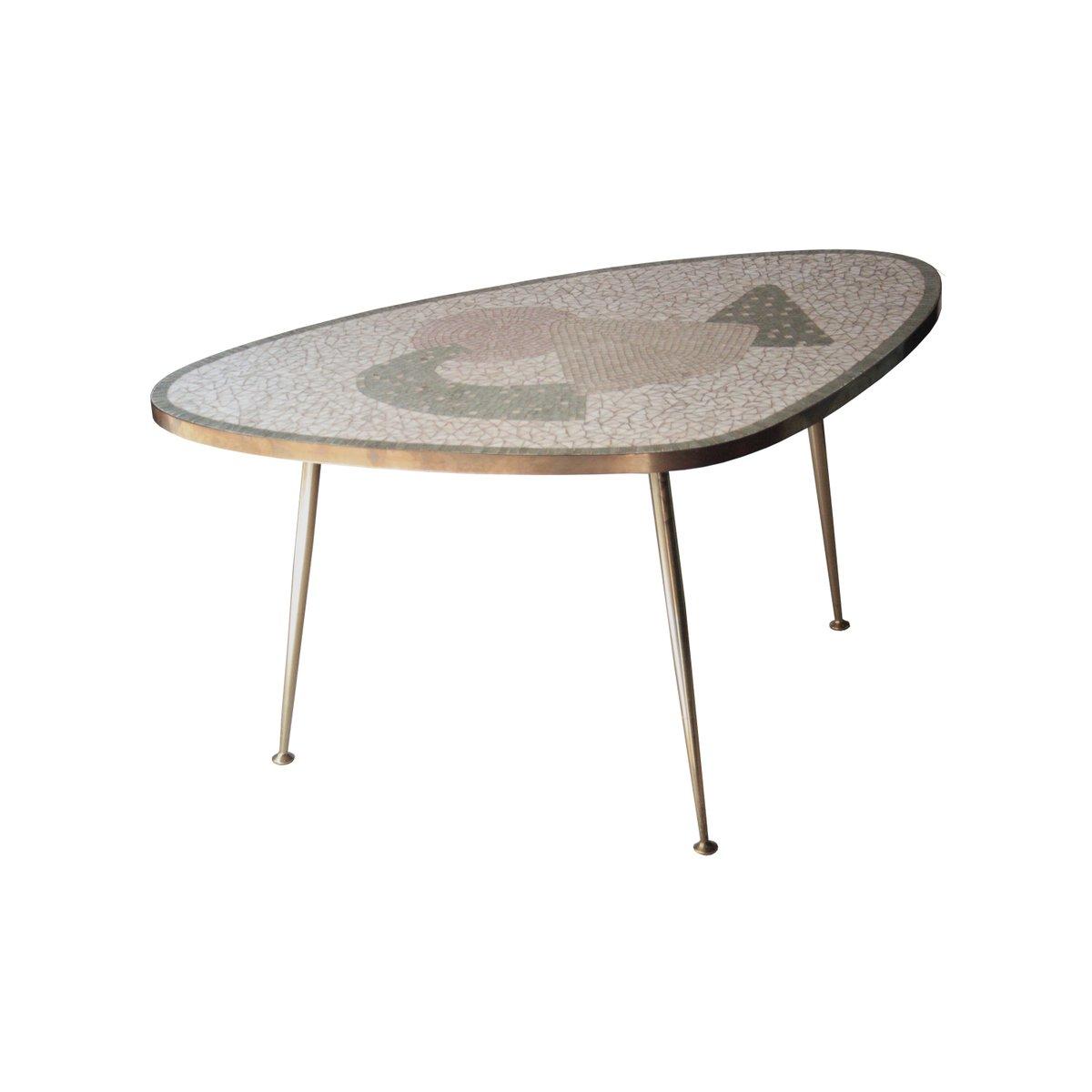 italienischer tisch mit tessera platte 1960er bei pamono kaufen. Black Bedroom Furniture Sets. Home Design Ideas