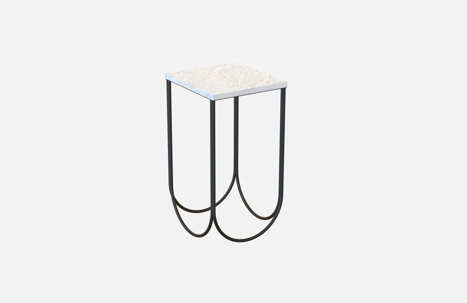 OTTO Beistelltisch in Schwarz mit weißer Marmorplatte von Alex Baser f...