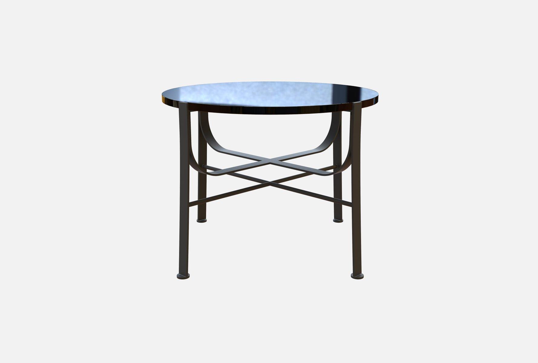 Tavolini In Vetro E Acciaio : Tavolino da caffè merge in acciaio e vetro nero di alex baser per