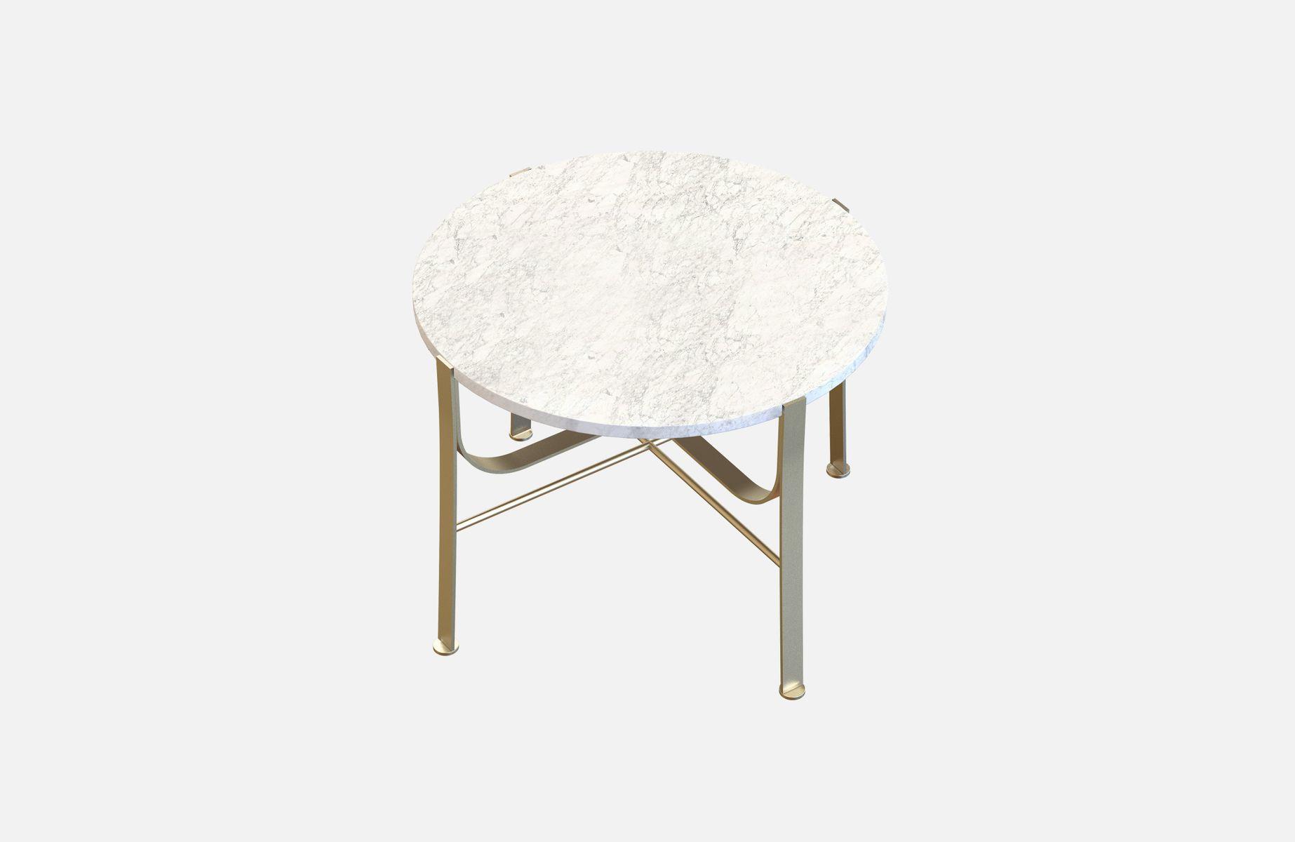 Vermessingter merge couchtisch mit wei er marmorplatte von alex baser f r miist bei pamono kaufen - Couchtisch mit marmorplatte ...