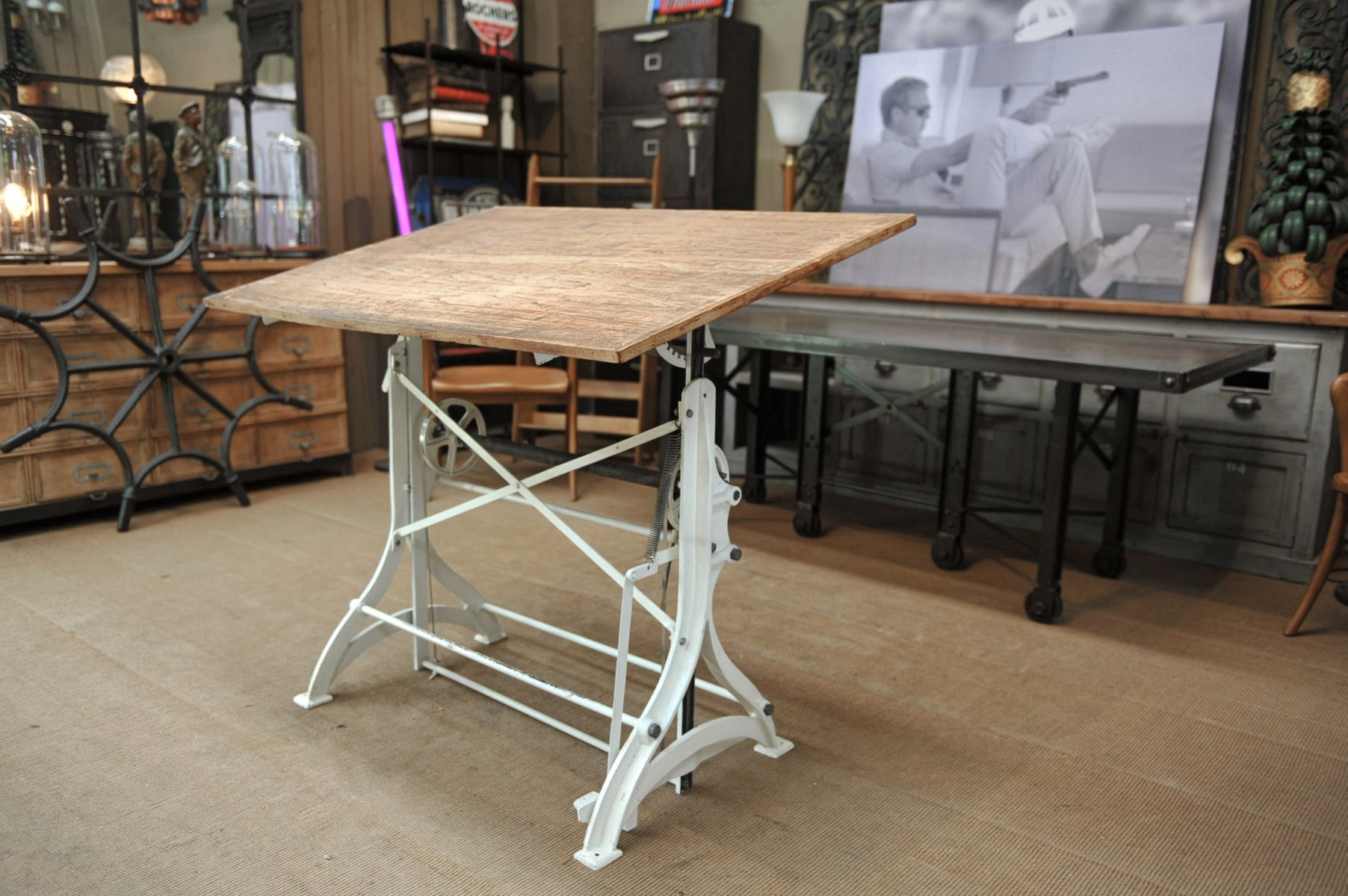 Antique Adjustable Architect Table in Cast Iron 1900s & Antique Adjustable Architect Table in Cast Iron 1900s for sale at ...