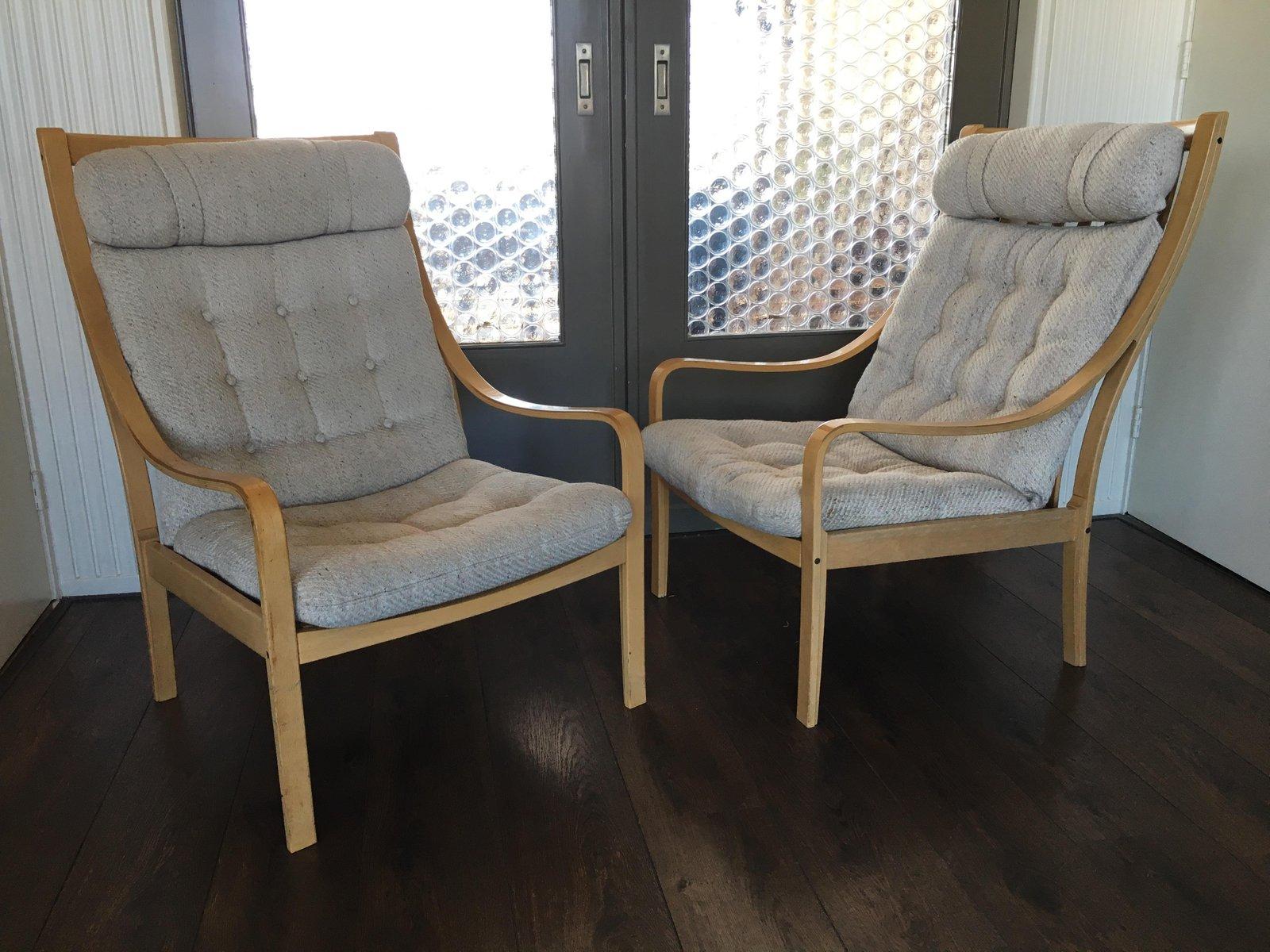 Dänischer Vintage Buchenholz Sessel