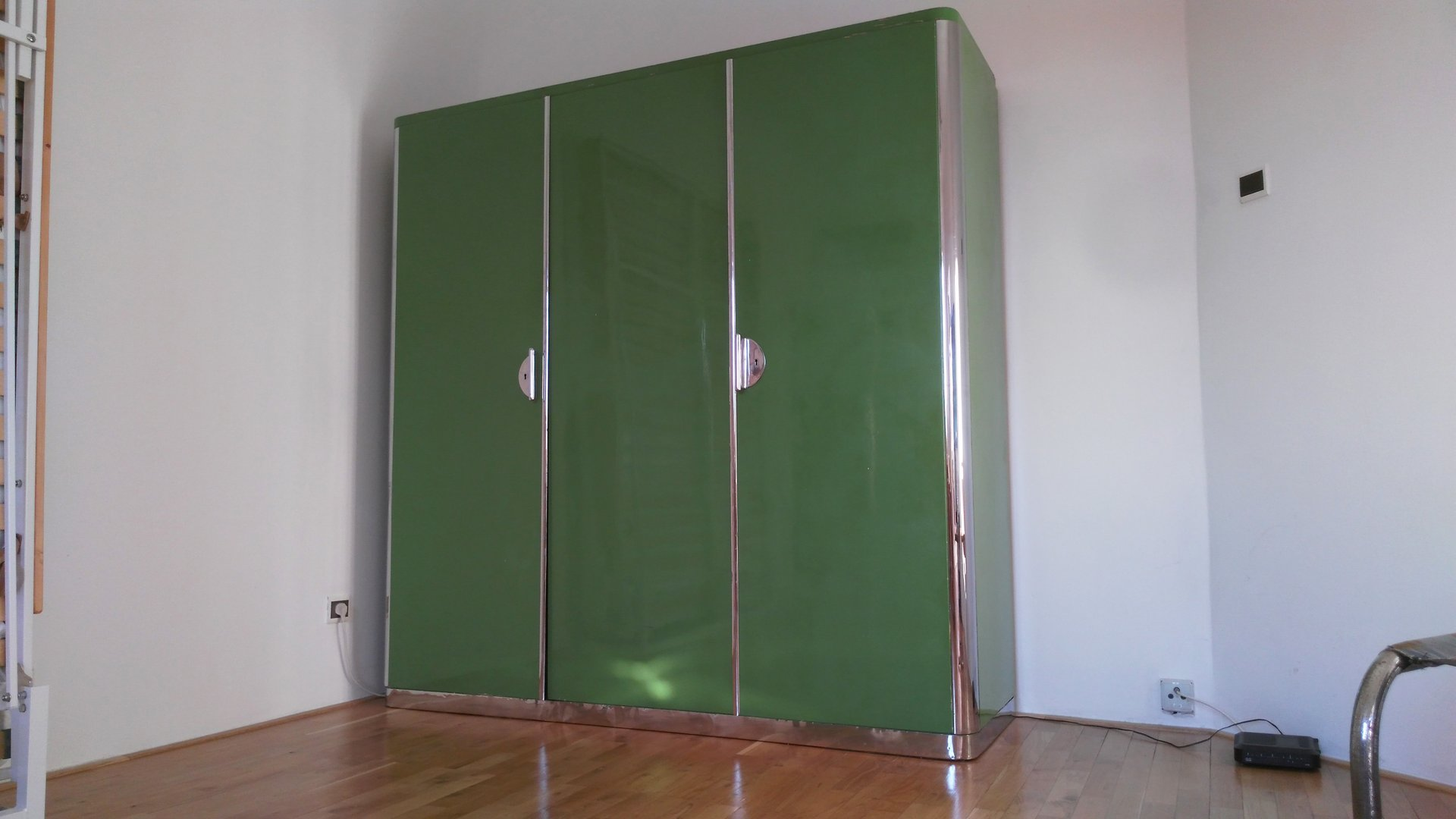 Verchromte Bauhaus Kleiderschränke von Rudolf Vichr, 1930er, 2er Set