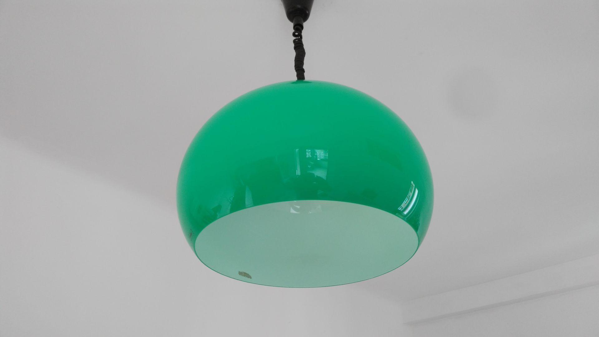 Mid century green pendant light by harvey guzzini for meblo for sale mid century green pendant light by harvey guzzini for meblo aloadofball Choice Image