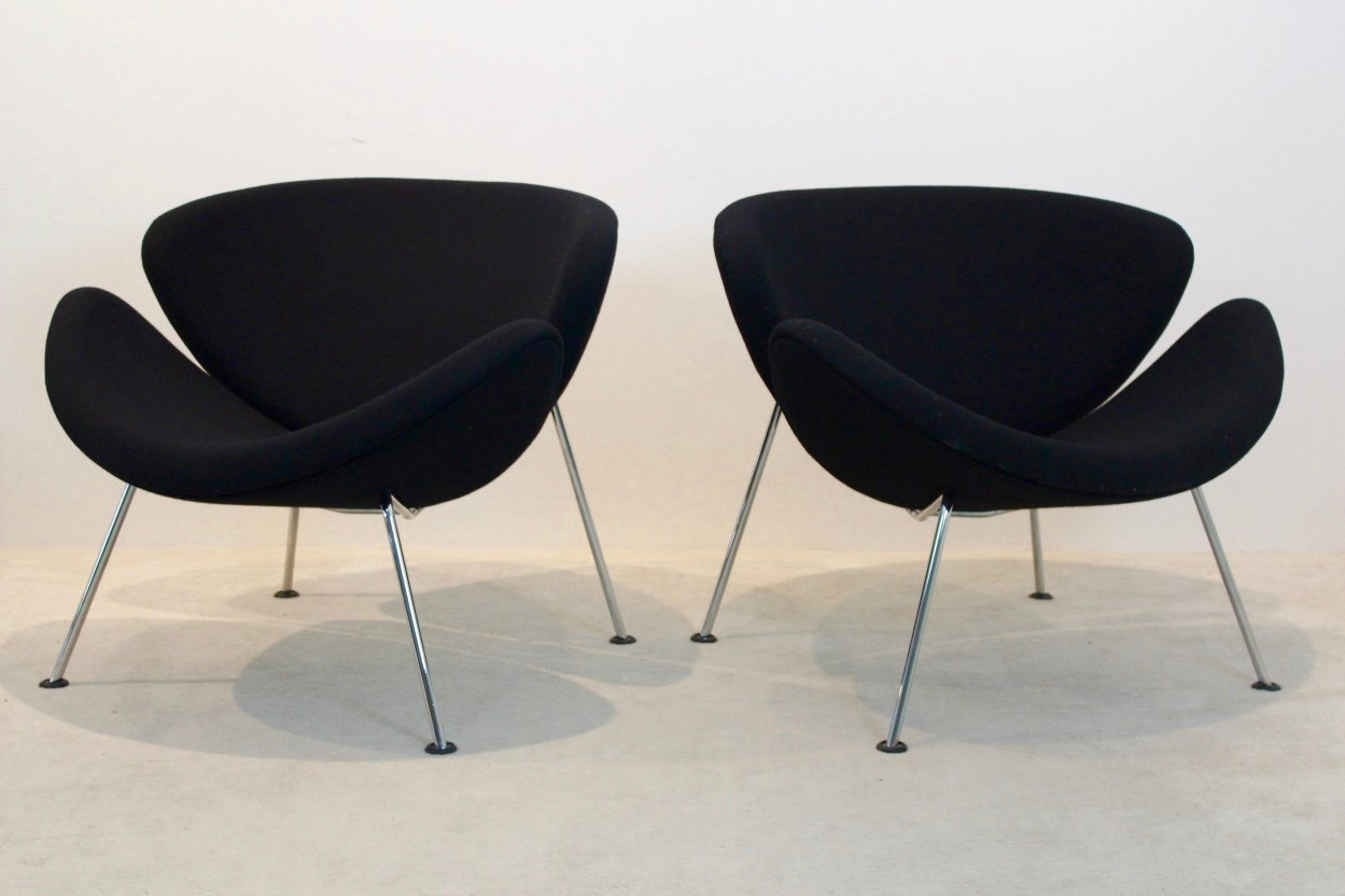 F437 Orange Slice Chairs von Pierre Paulin für Artifort, 1960er, 2er S...