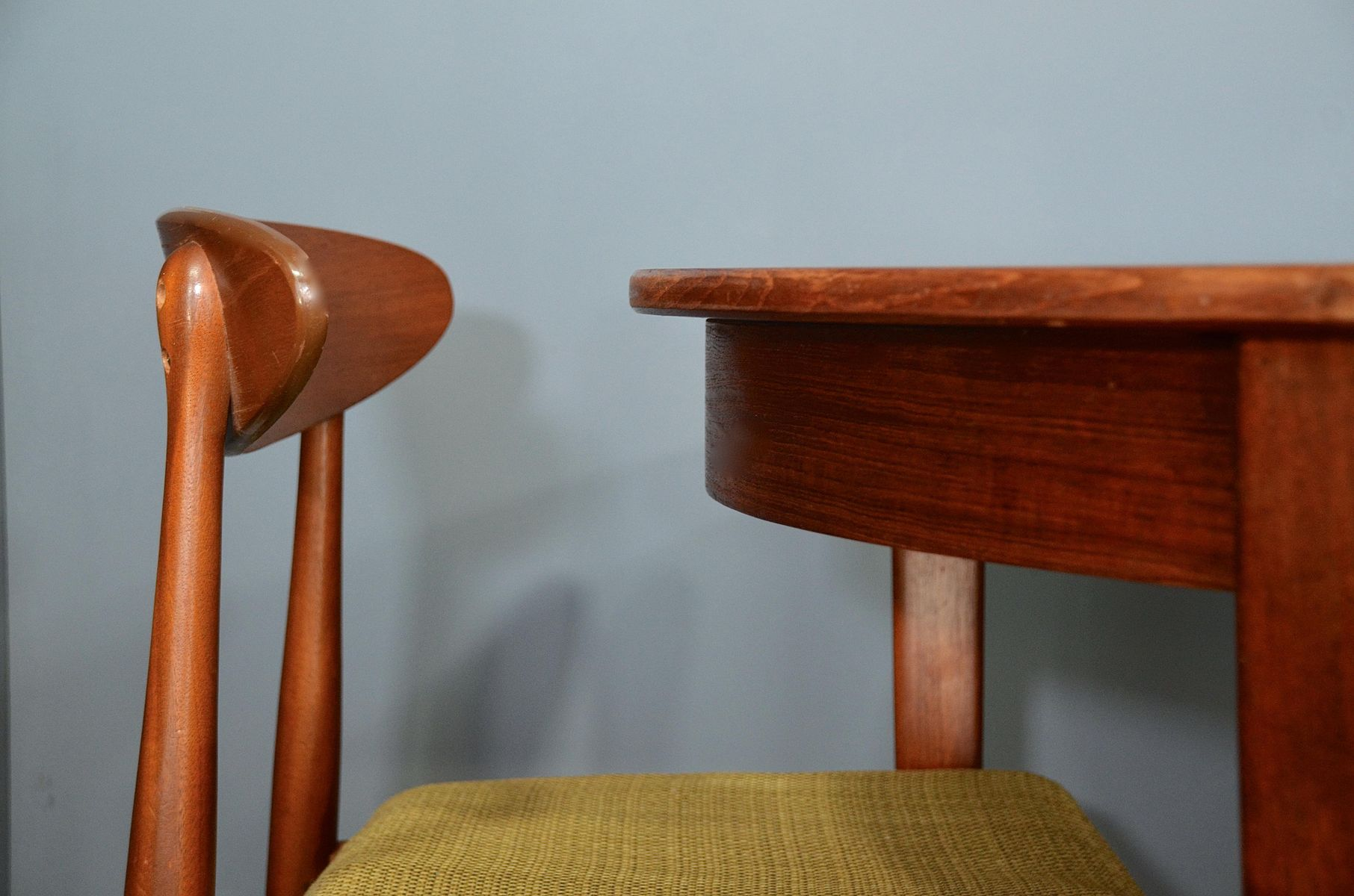Vintage Danish Extendable Teak Table with Chairs, 1960s for sale at ...