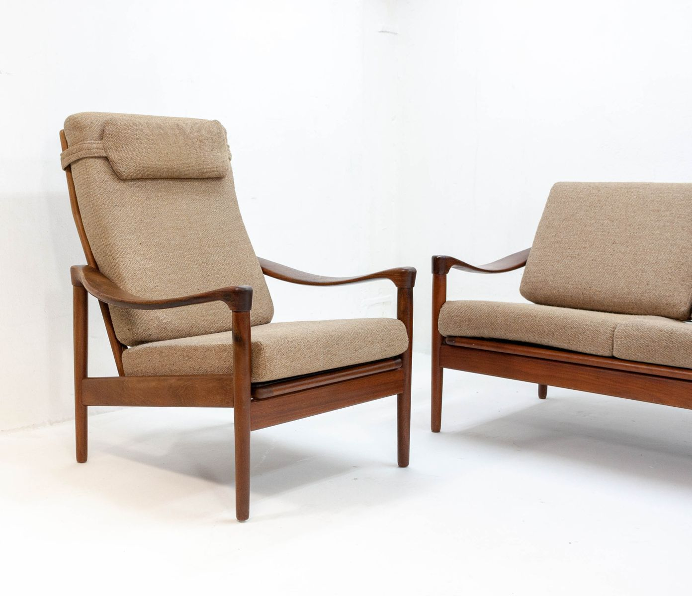 Teak Sessel von De Ster Gelderland, 1950er