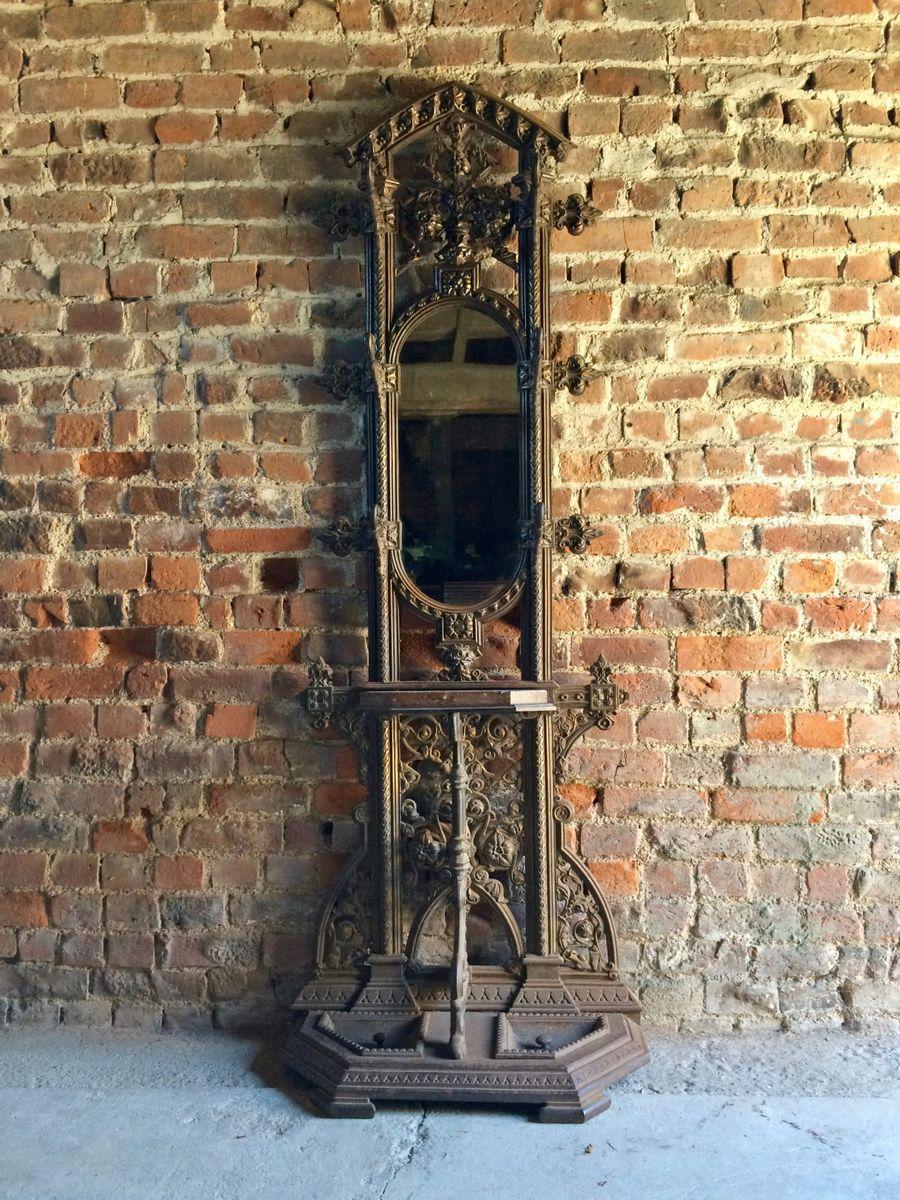 Viktorianische Coalbrookdale Flur Garderobe aus...