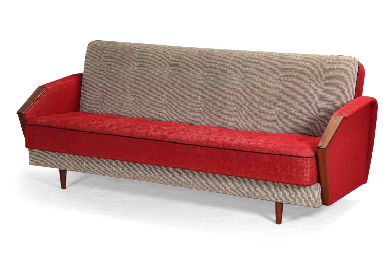 Vintage 3-Sitzer Schlafsofa