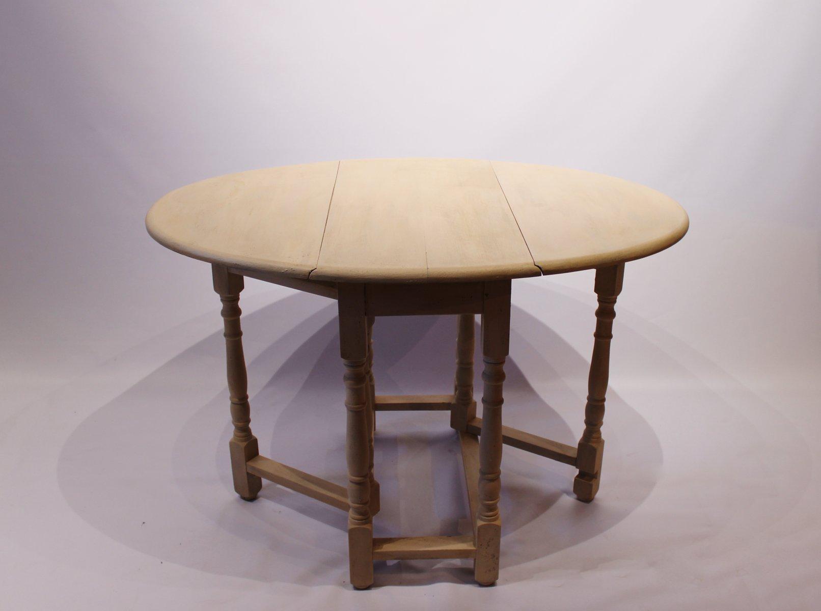Tavolo Pieghevole Bianco : Tavolo pieghevole bianco fine xix secolo in vendita su pamono