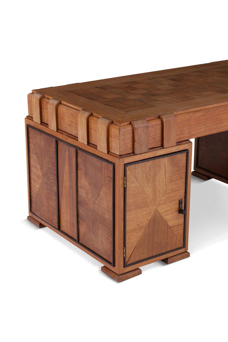 bureau art d co en ch ne france en vente sur pamono. Black Bedroom Furniture Sets. Home Design Ideas