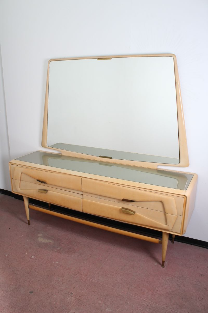 Kommode mit Vintage Spiegel von Ico Parisi für Dassi, 1950er