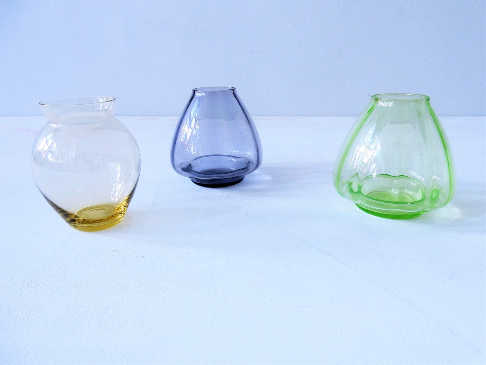 30500 - Colored Glass Vases