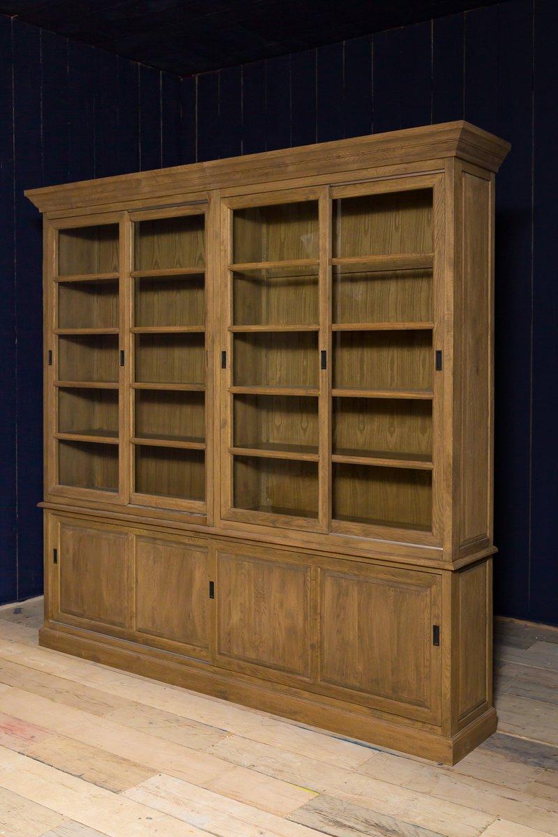 Large Vintage Oak Display Cabinet - Large Vintage Oak Display Cabinet For Sale At Pamono