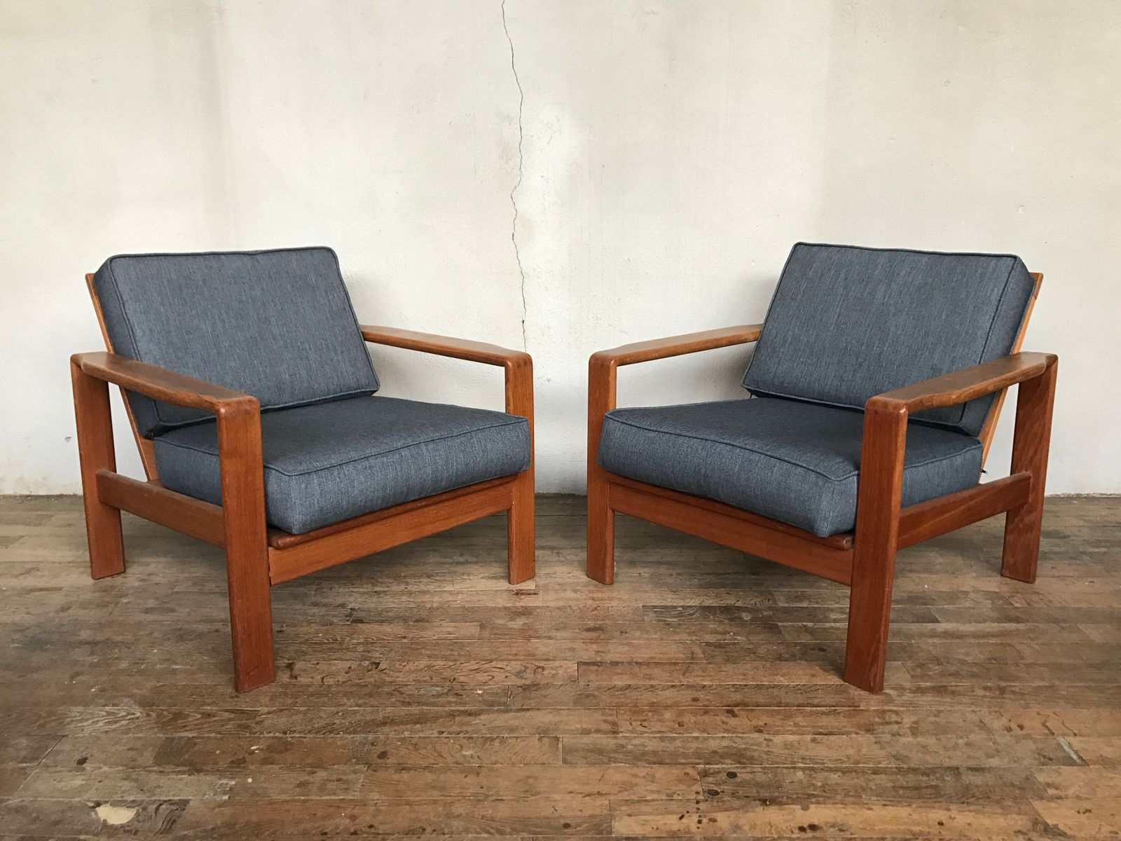 Dänische Vintage Teak Sessel, 2er Set