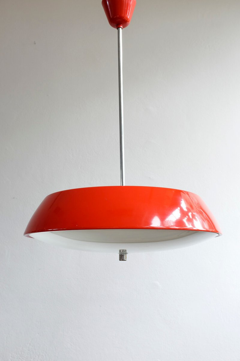 Model 1117 Red Hanging Lamp by Josef Hurka for Napako, 1960s for ...