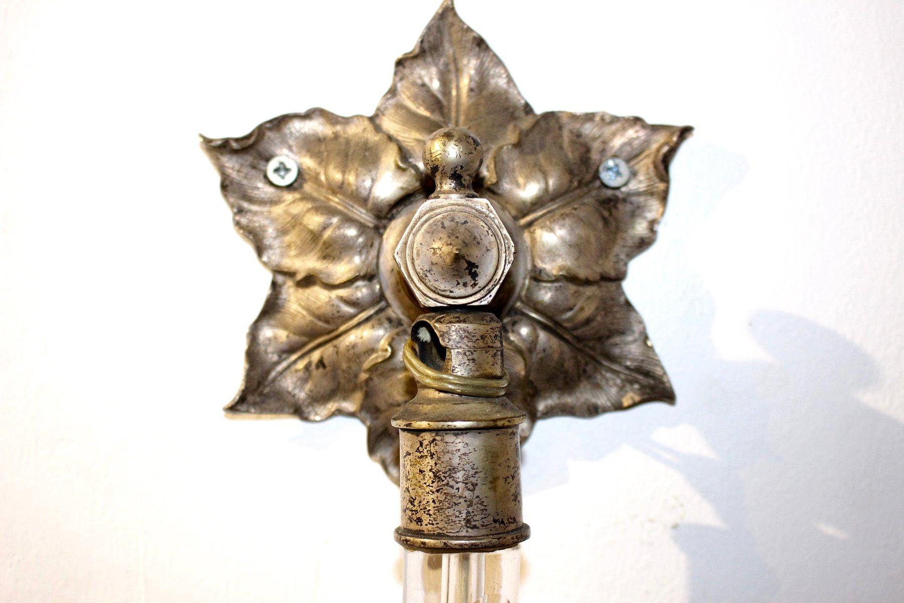 Applique antiche in cristallo set di in vendita su pamono