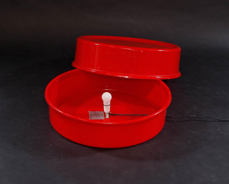 Roter Vintage Ilumesa Couchtisch von Verner Panton für Louis Poulsen