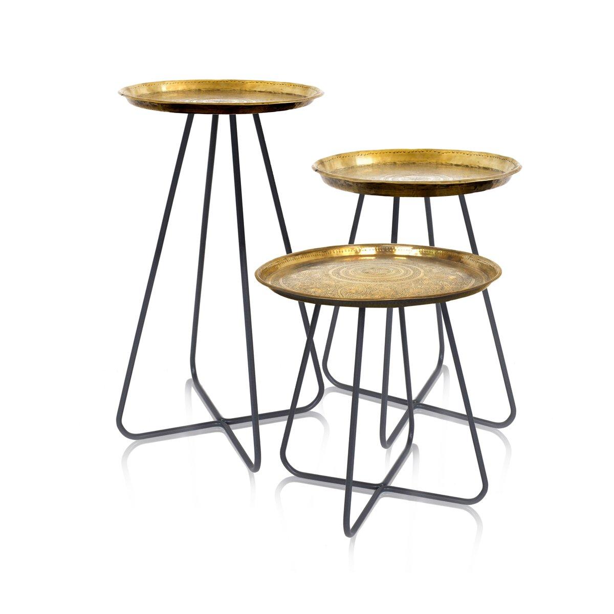hoher new casablanca tisch aus messing von young battaglia f r mineheart 2018 bei pamono kaufen. Black Bedroom Furniture Sets. Home Design Ideas