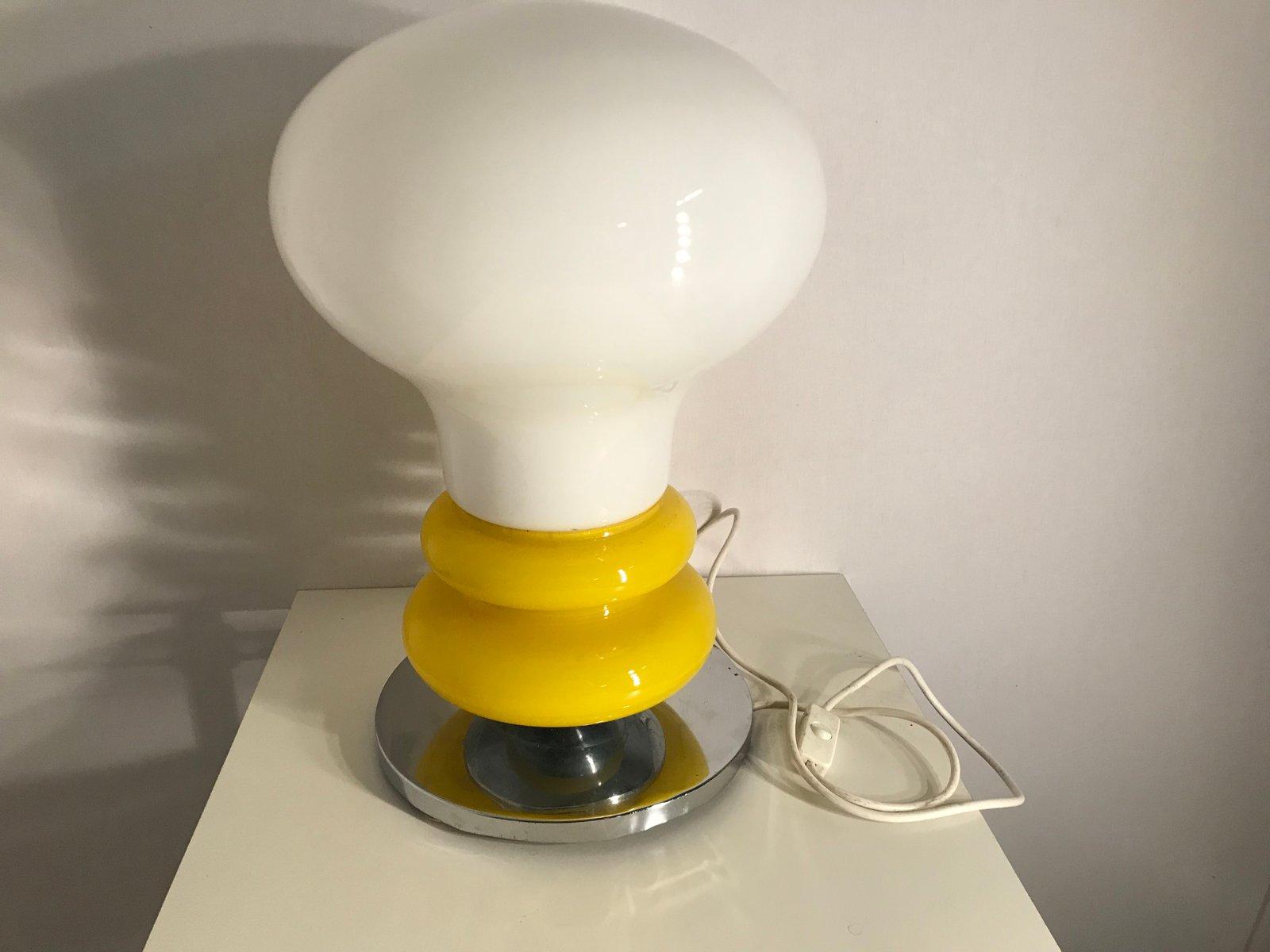 Mid-Century Opalglas Tischlampe, 1970er