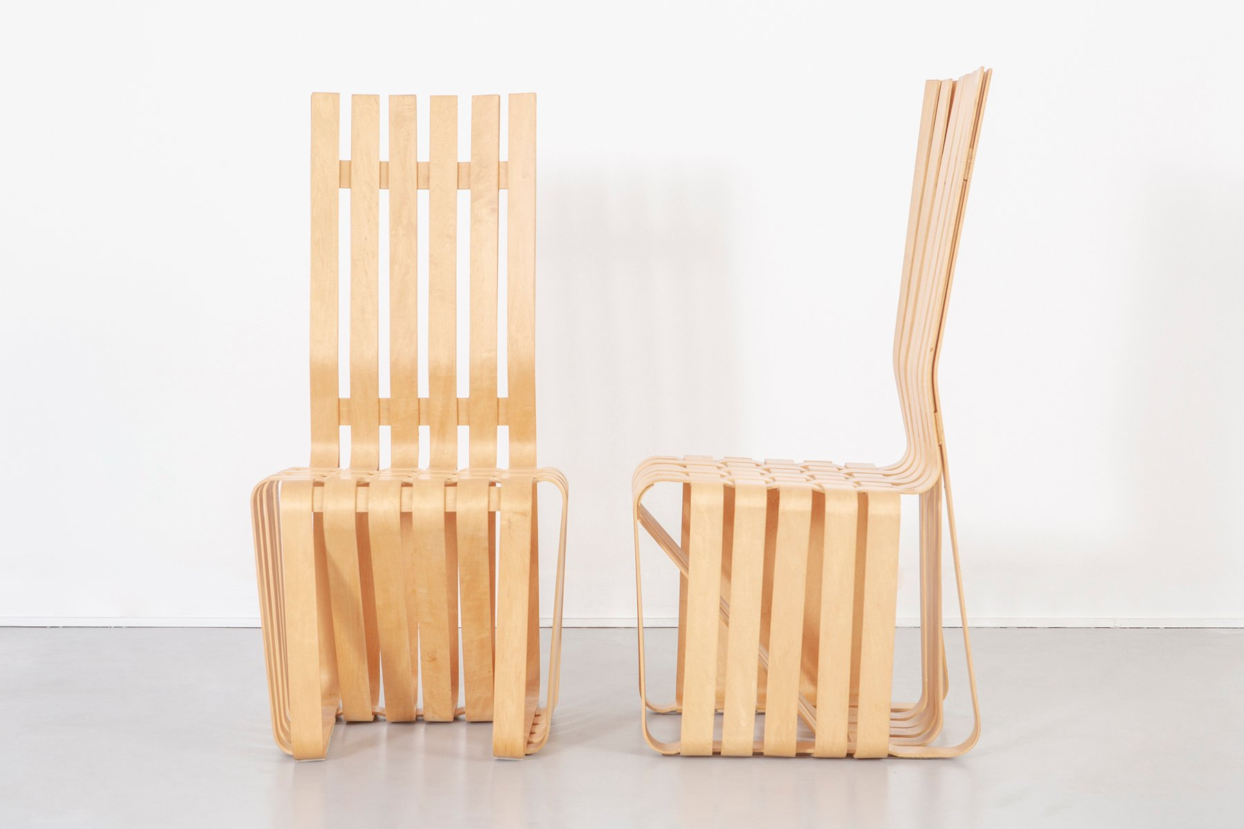 High Sticking Chairs By Frank Gehry For Knoll, 1993, Set Of 6