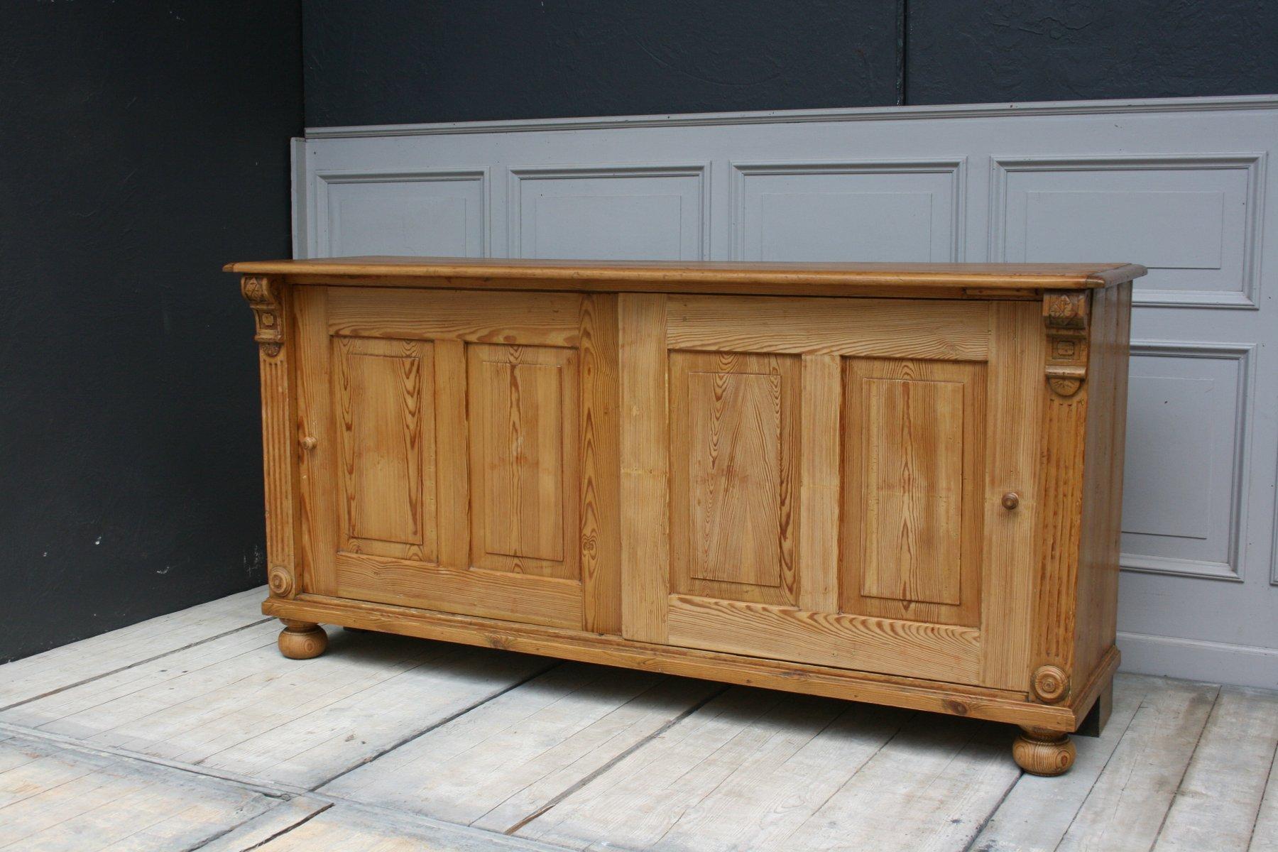 antikes wilhelminisches sideboard mit schiebet ren bei pamono kaufen. Black Bedroom Furniture Sets. Home Design Ideas