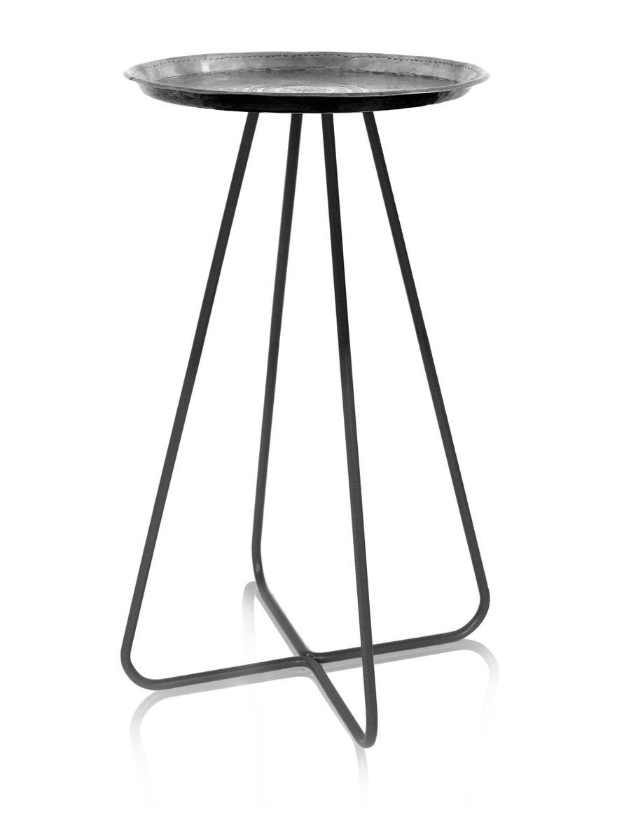 hoher new casablanca tisch in silber von young battaglia f r mineheart 2018 bei pamono kaufen. Black Bedroom Furniture Sets. Home Design Ideas