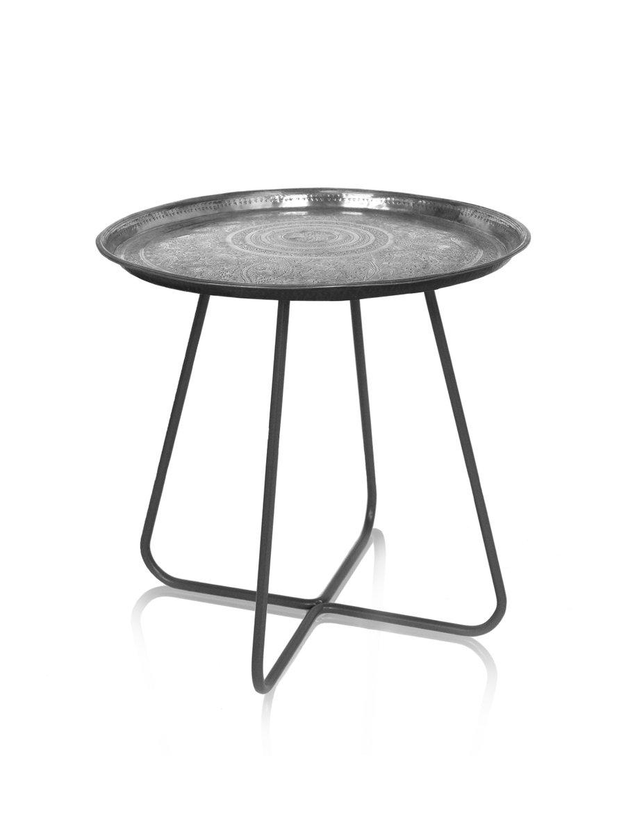 Kurzer New Casablanca Tisch in Silber von Young & Battaglia für Minehe...
