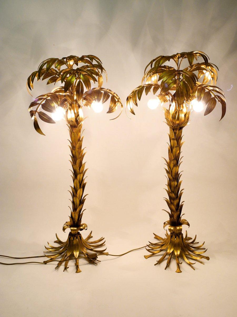 Brass Palm Tree Floor Lamps By Hans K 246 Gl 1970s Set Of 2