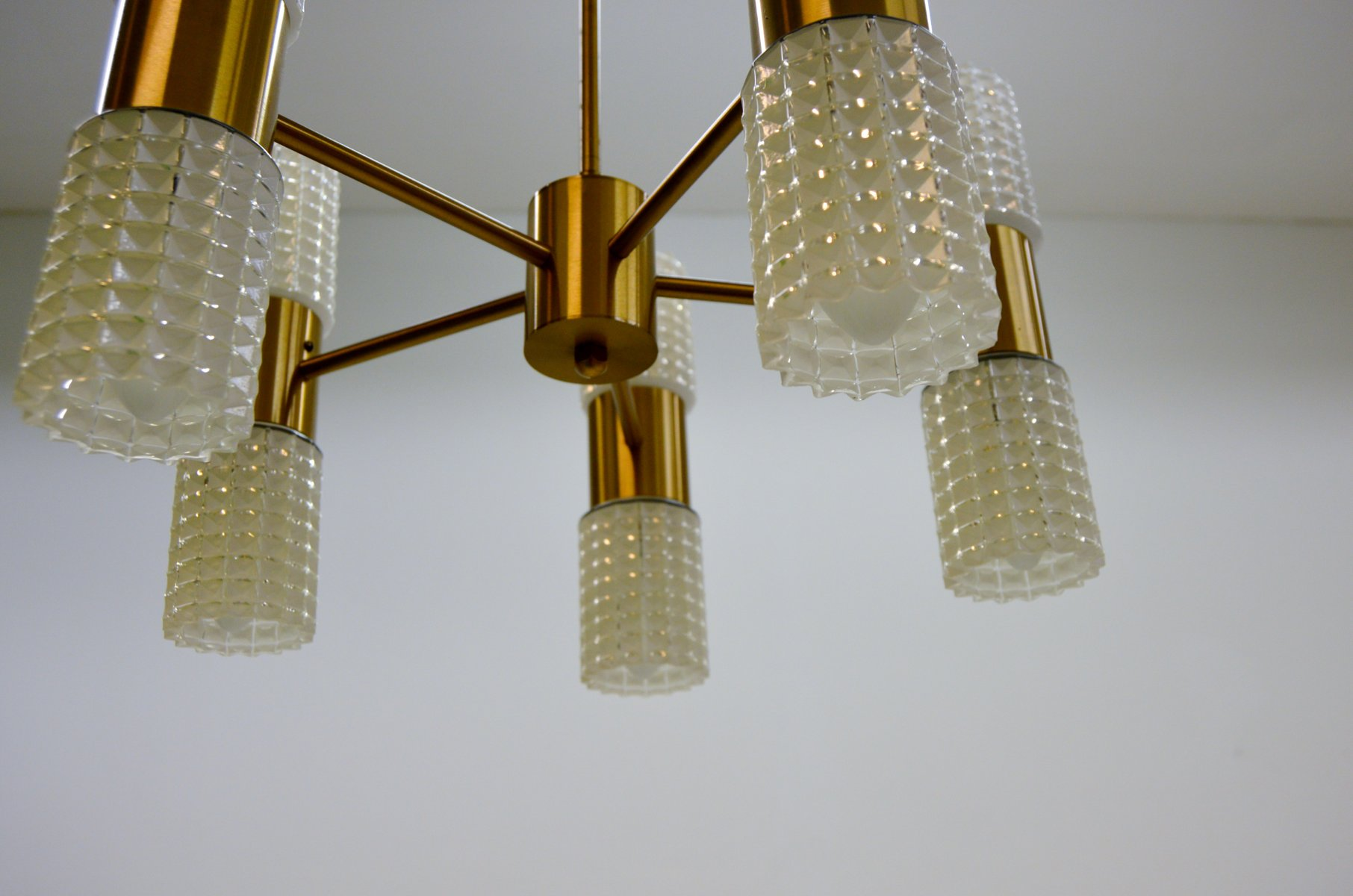 Fest brass glass chandelier from ikea 1960s for sale at pamono price per piece aloadofball Gallery