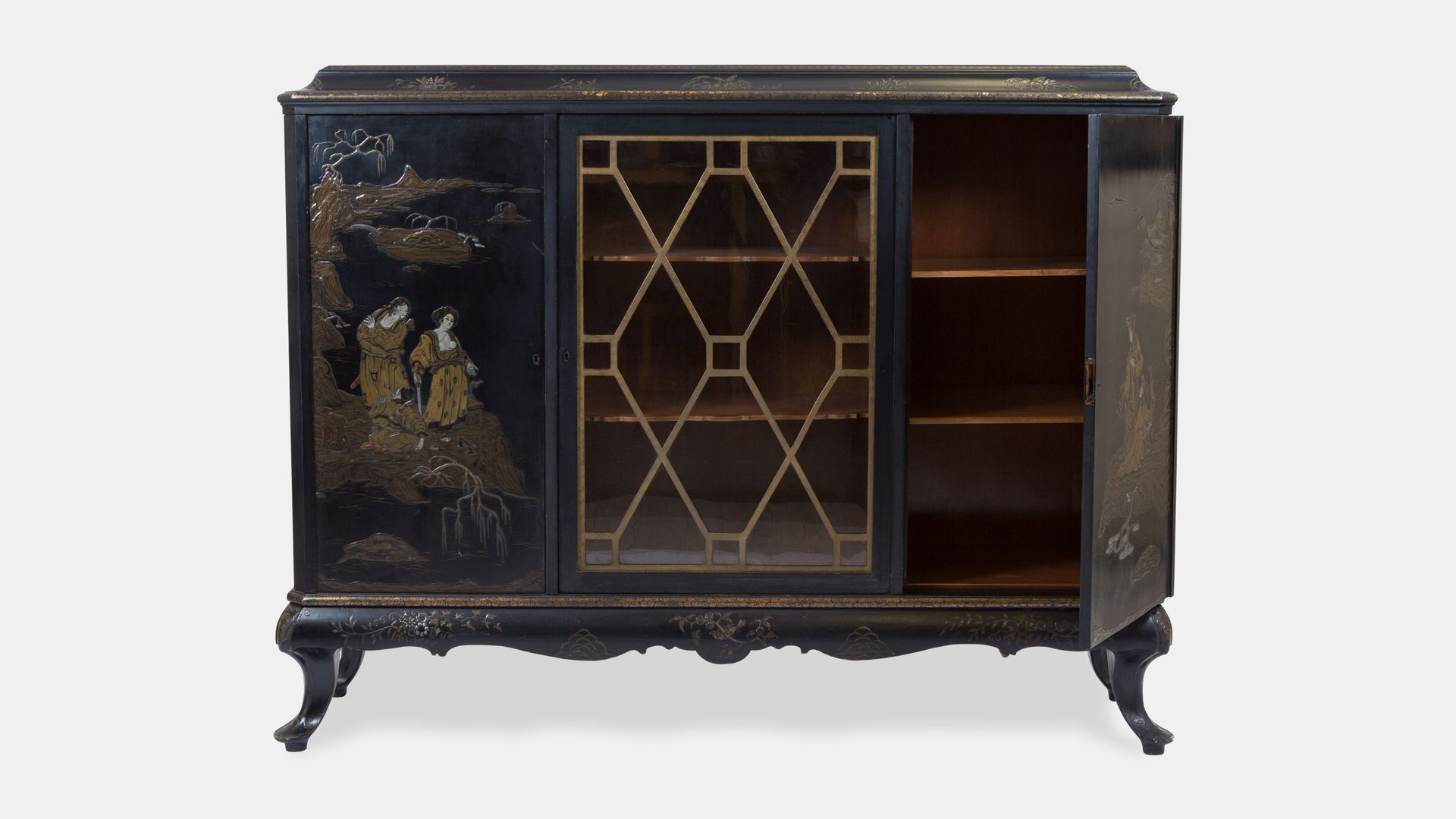 Mobili Cinesi Laccati Neri : Mobiletto in stile cinese di maison jansen in vendita su pamono
