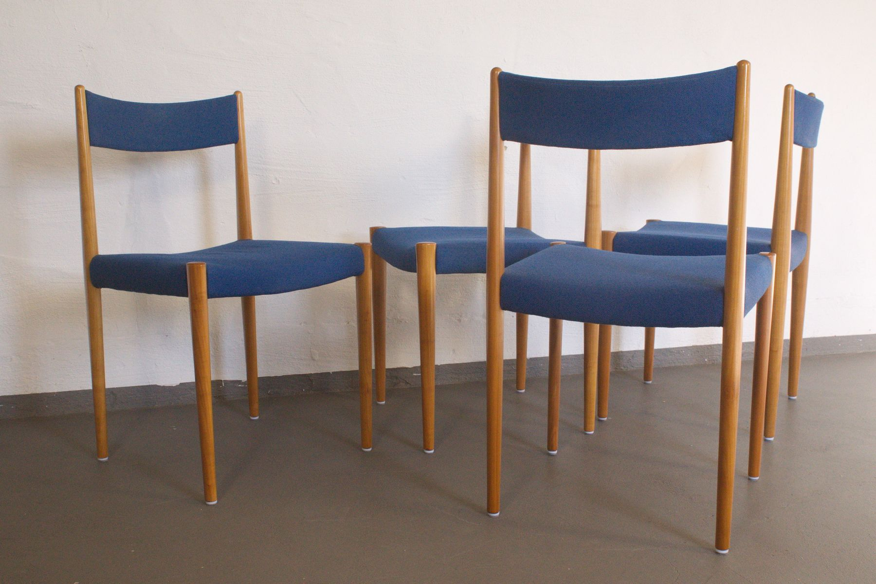 Cherrywood Dining Chairs From Lübke, 1960s, Set Of 4