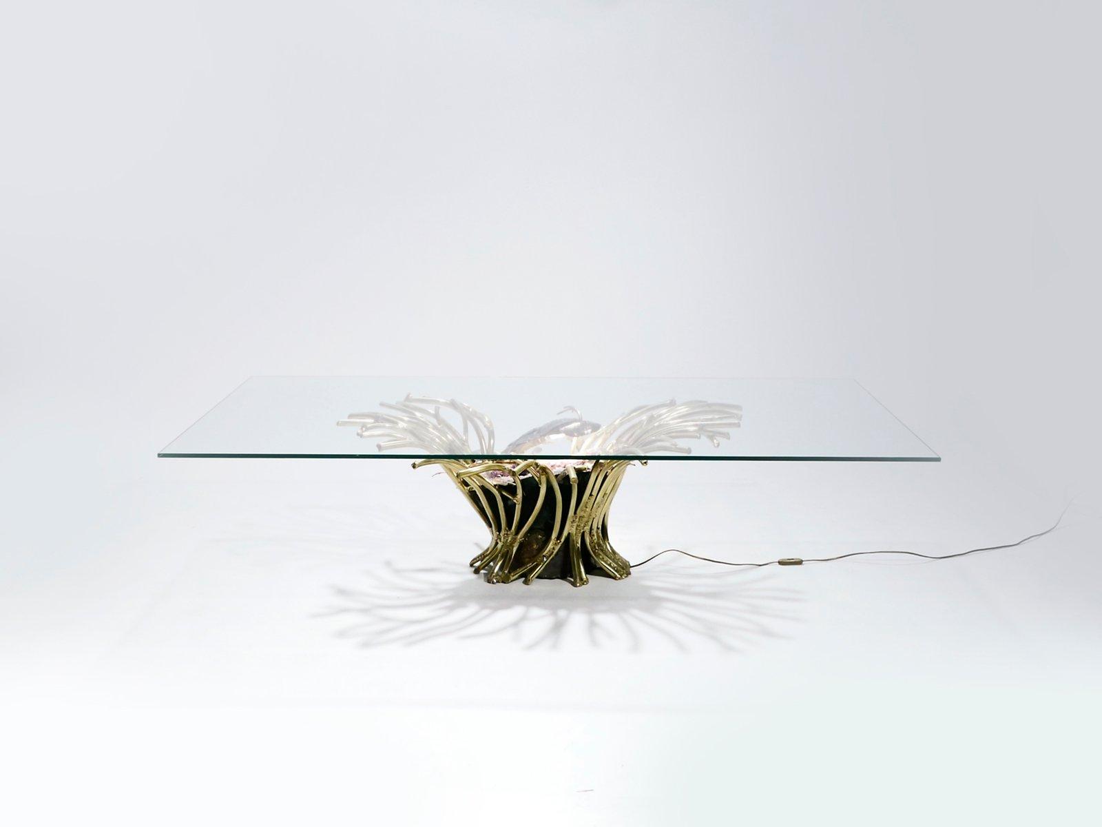 Beleuchteter Amethyst & Bronze Couchtisch von Isabelle Masson-Faure fü...