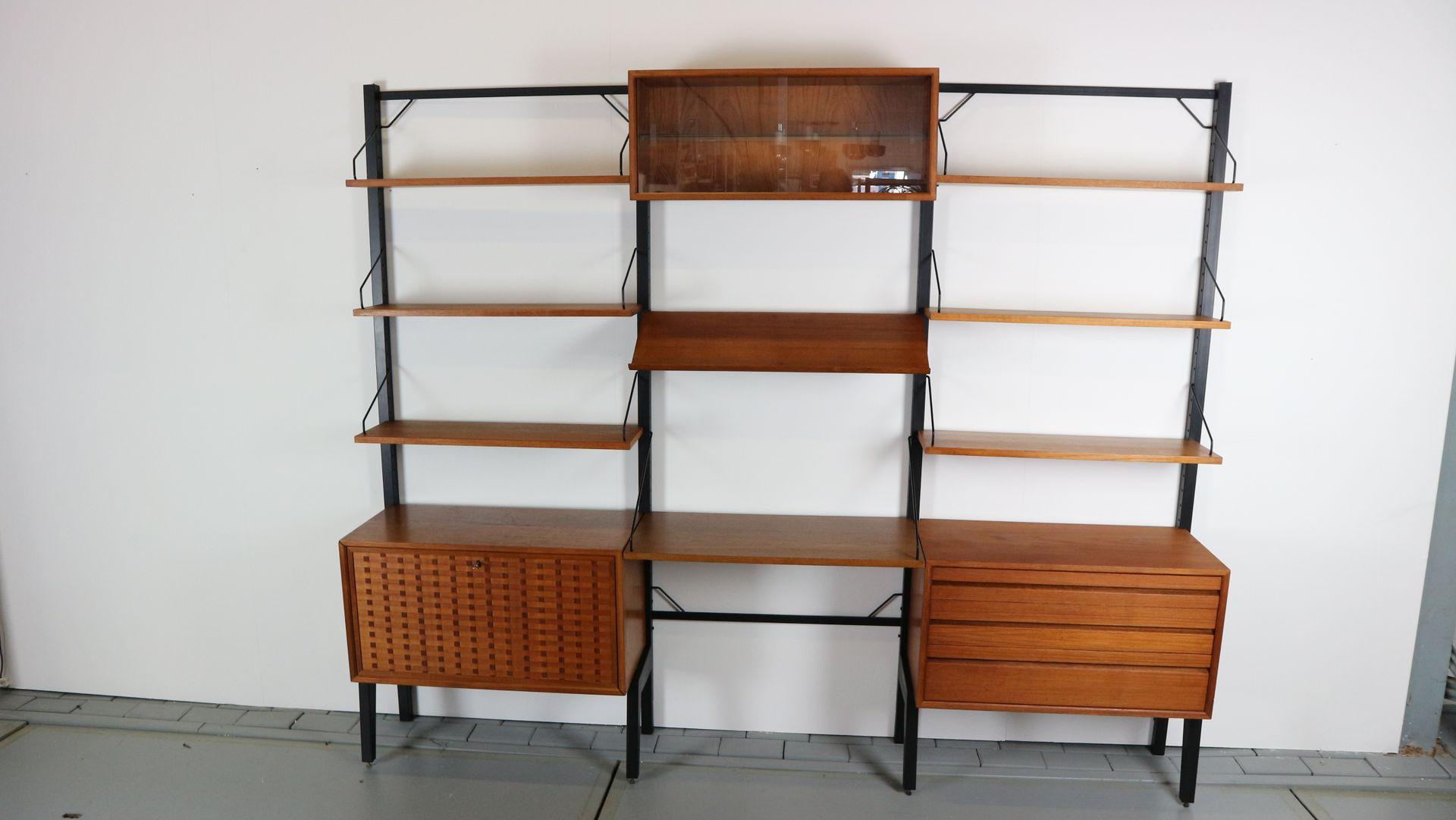 modulares freistehendes vintage royal system wandregal von poul