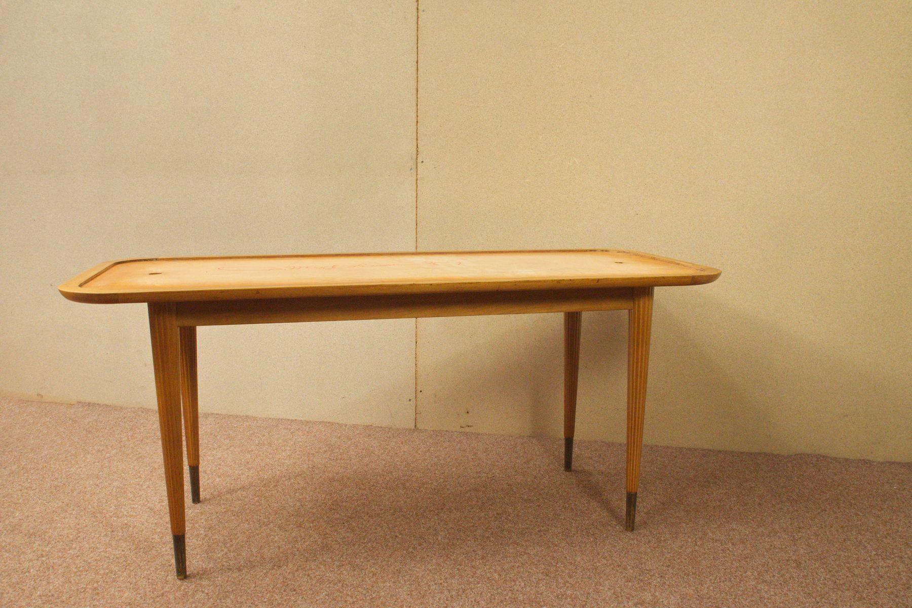 table basse avec plateau en verre noir allemagne 1950s en vente sur pamono. Black Bedroom Furniture Sets. Home Design Ideas