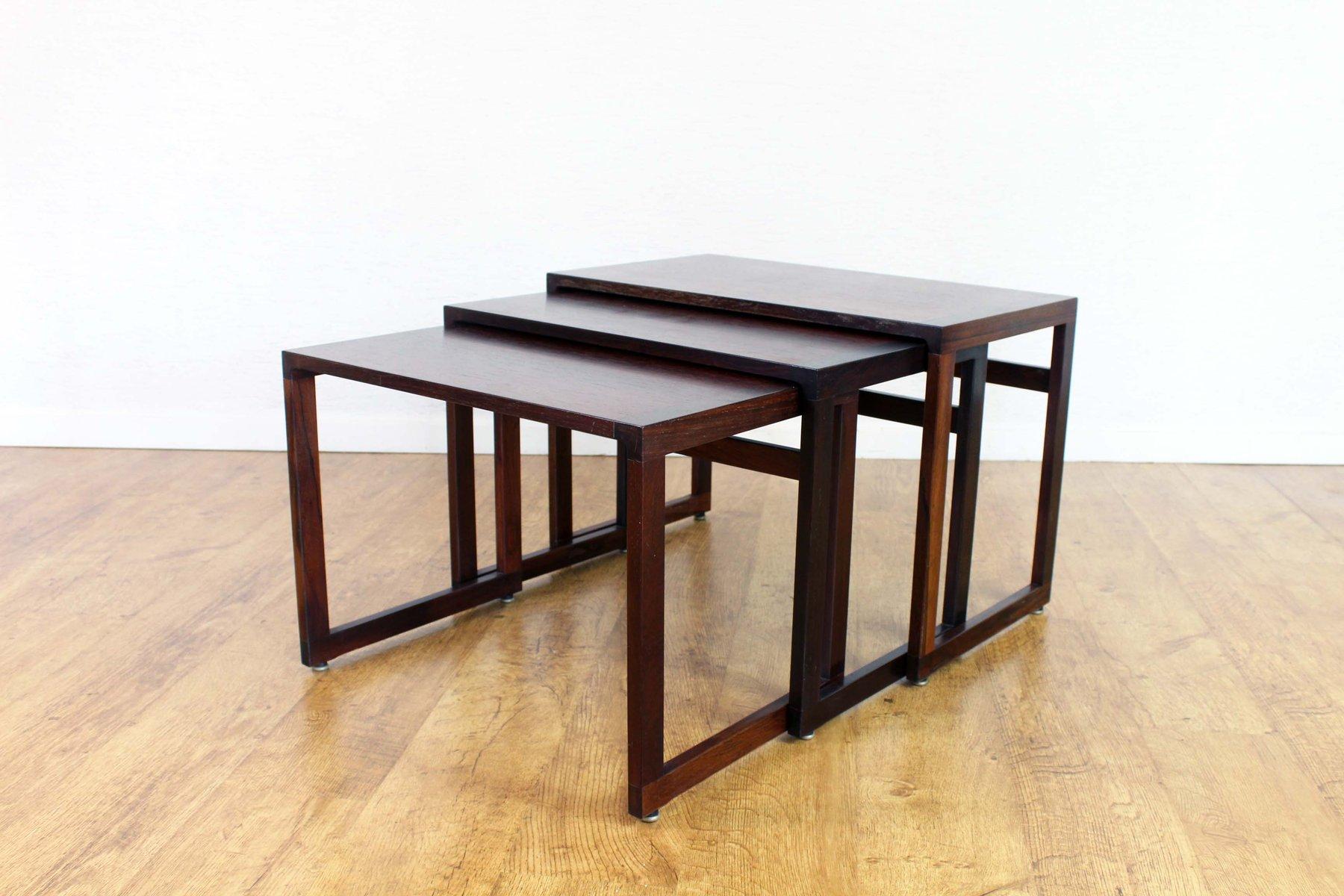 tables gigognes vintage en palissandre - Table Gigogne Vintage