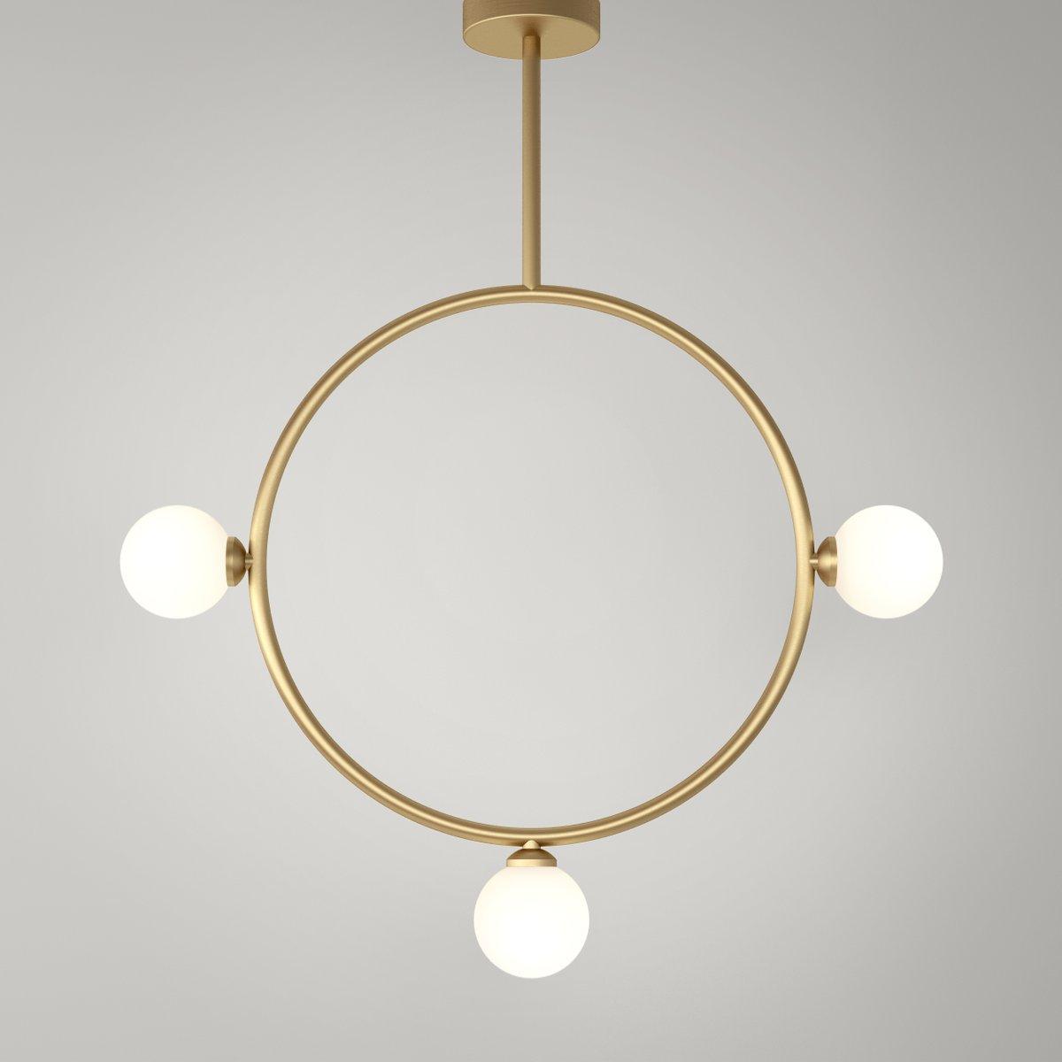 Circle Hängelampe mit 3 Glaskugeln von Atelier Areti