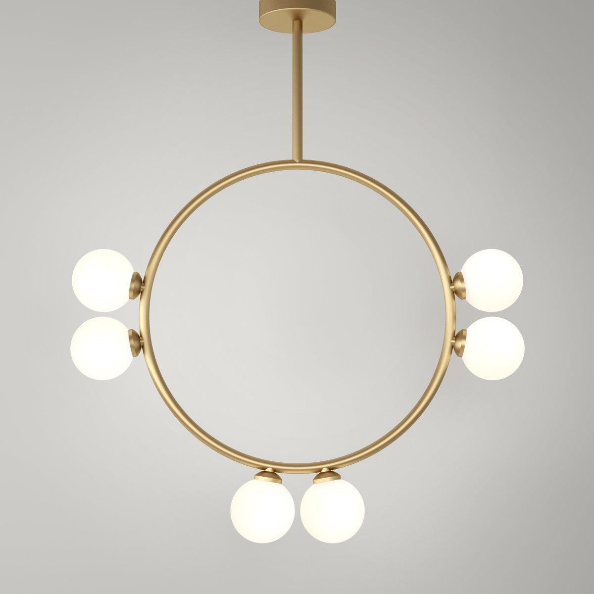 Circle Hängelampe mit 6 Glaskugeln von Atelier Areti