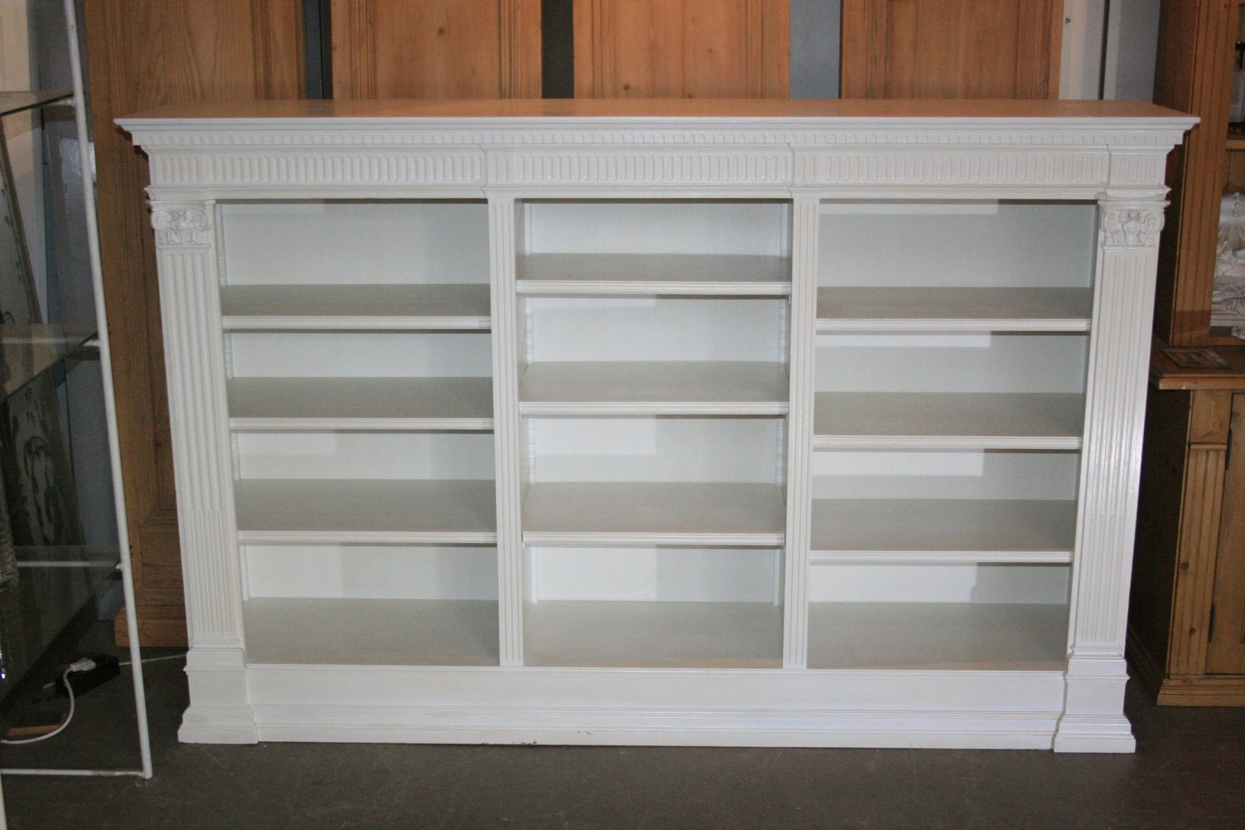 Antique White Bookshelf
