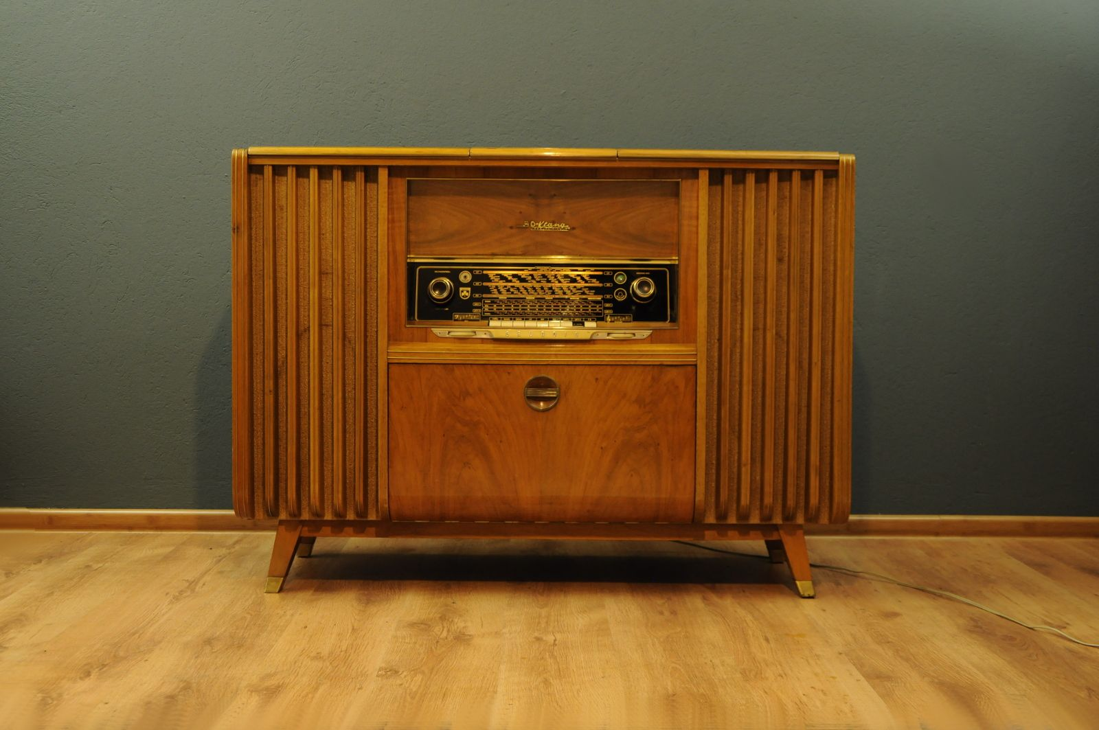 Vintage Music Cabinet From Grundig
