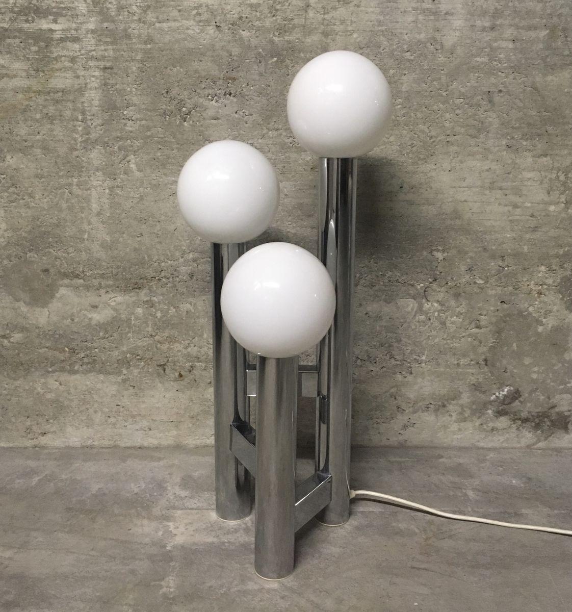 Italienische Mid-Century Chrom Bubble Stehlampe, 1970er