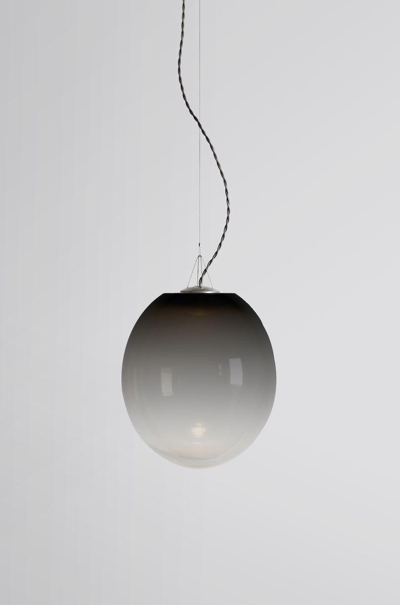 Kleine schwarze Gradation Hängelampe von Atelier Areti