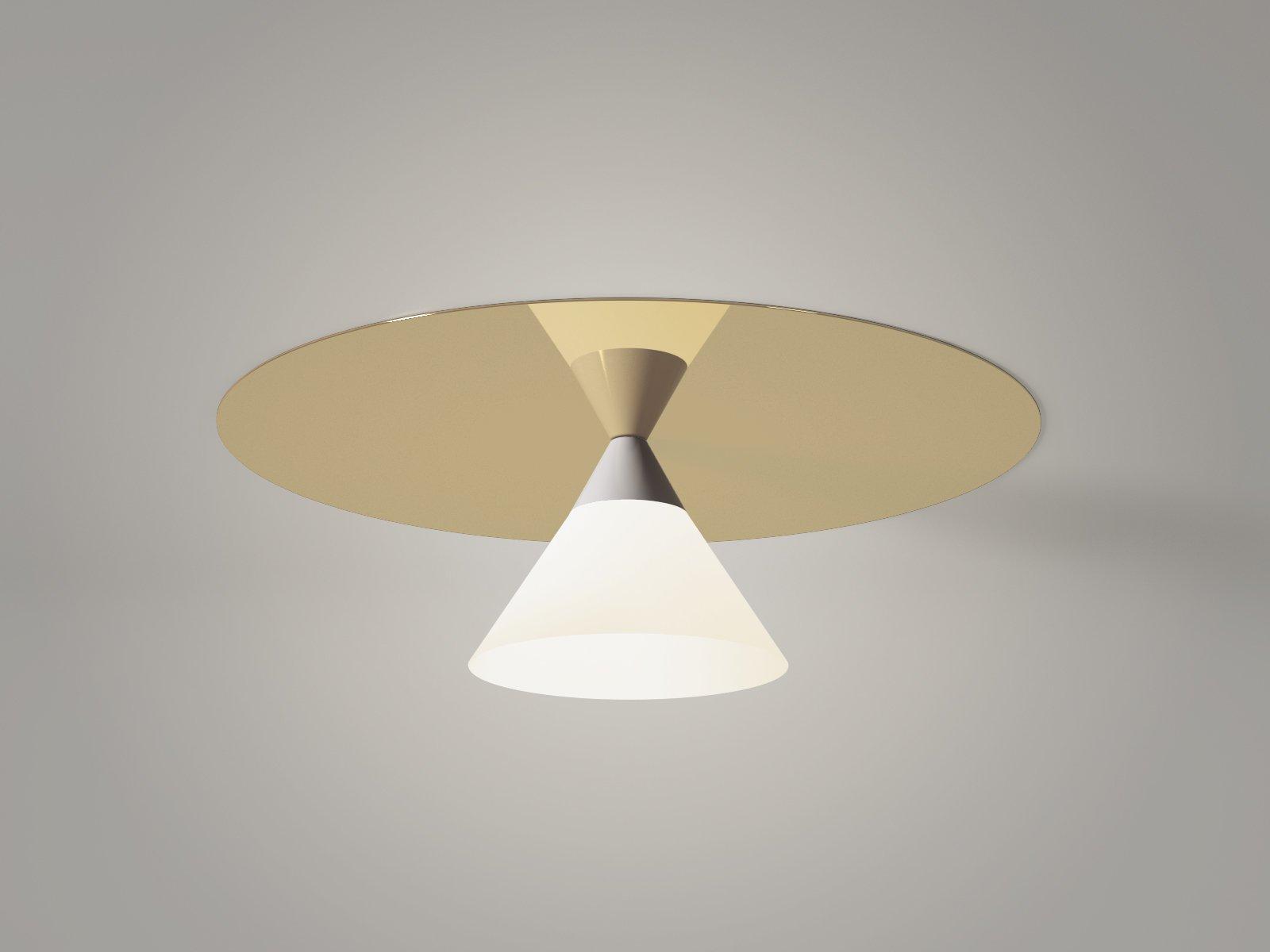Plate and Cone Decken- oder Wandlampe von Atelier Areti