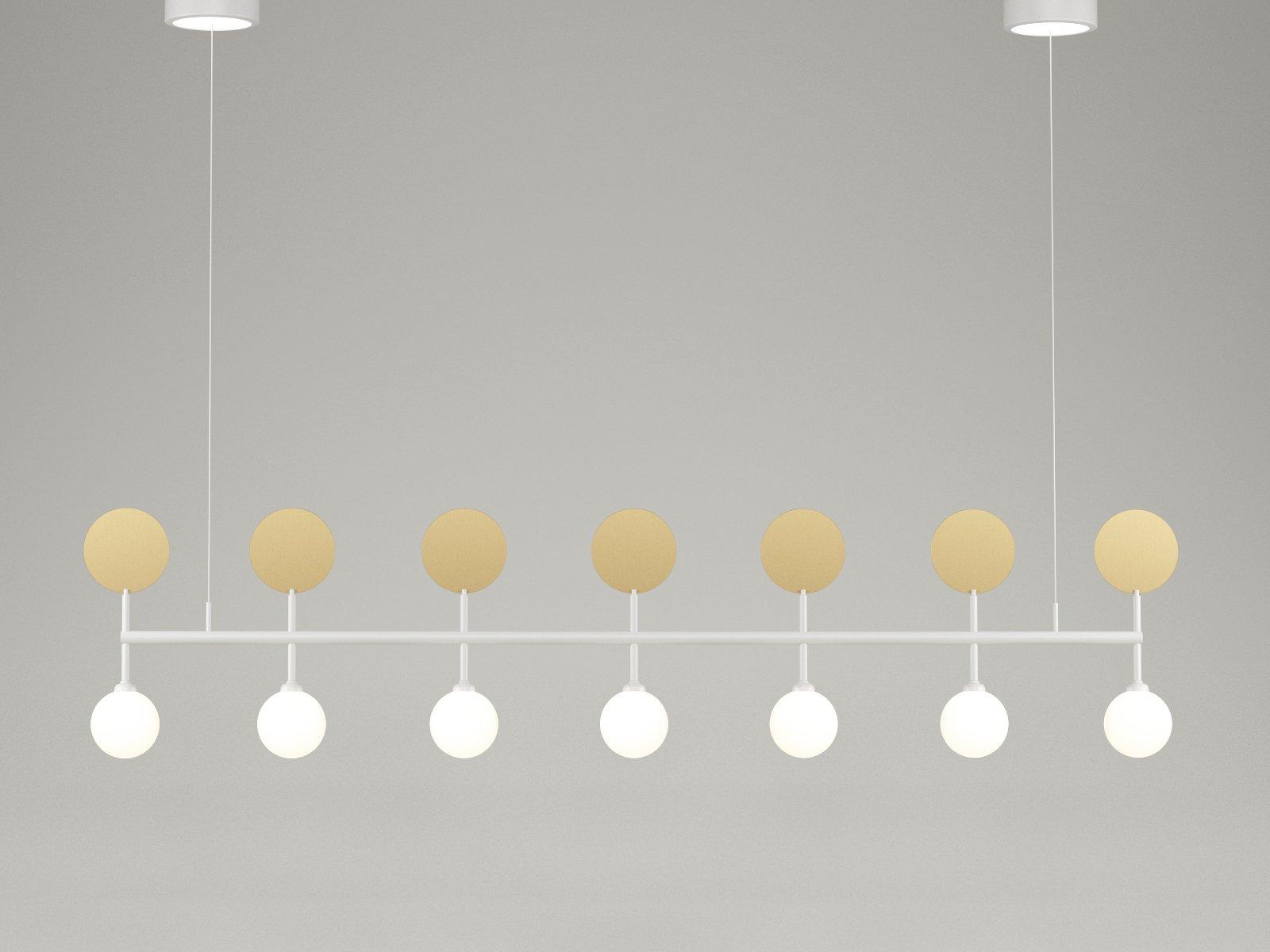Weiße Row Hängelampe von Atelier Areti