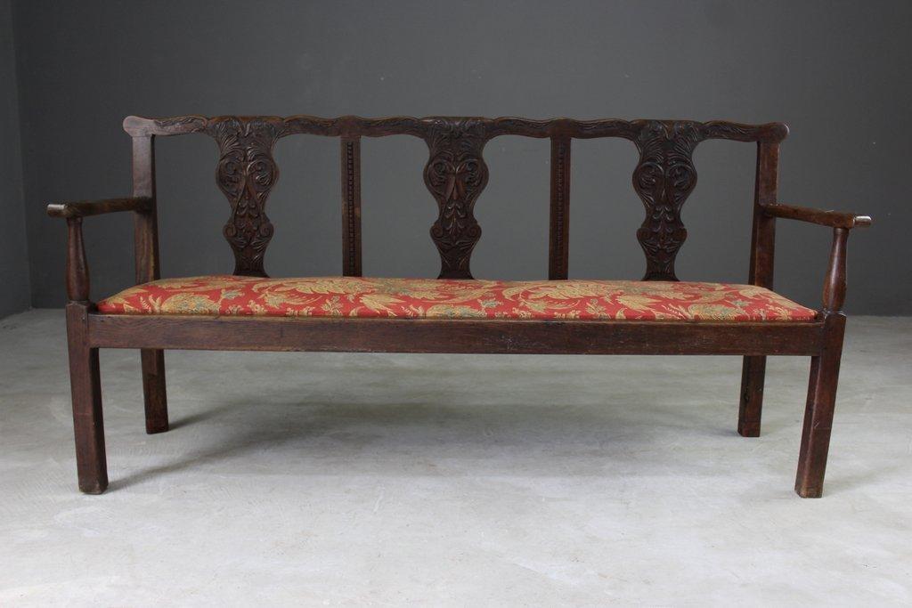 Antike Eiche Sitzgarnitur im Chippendale Stil