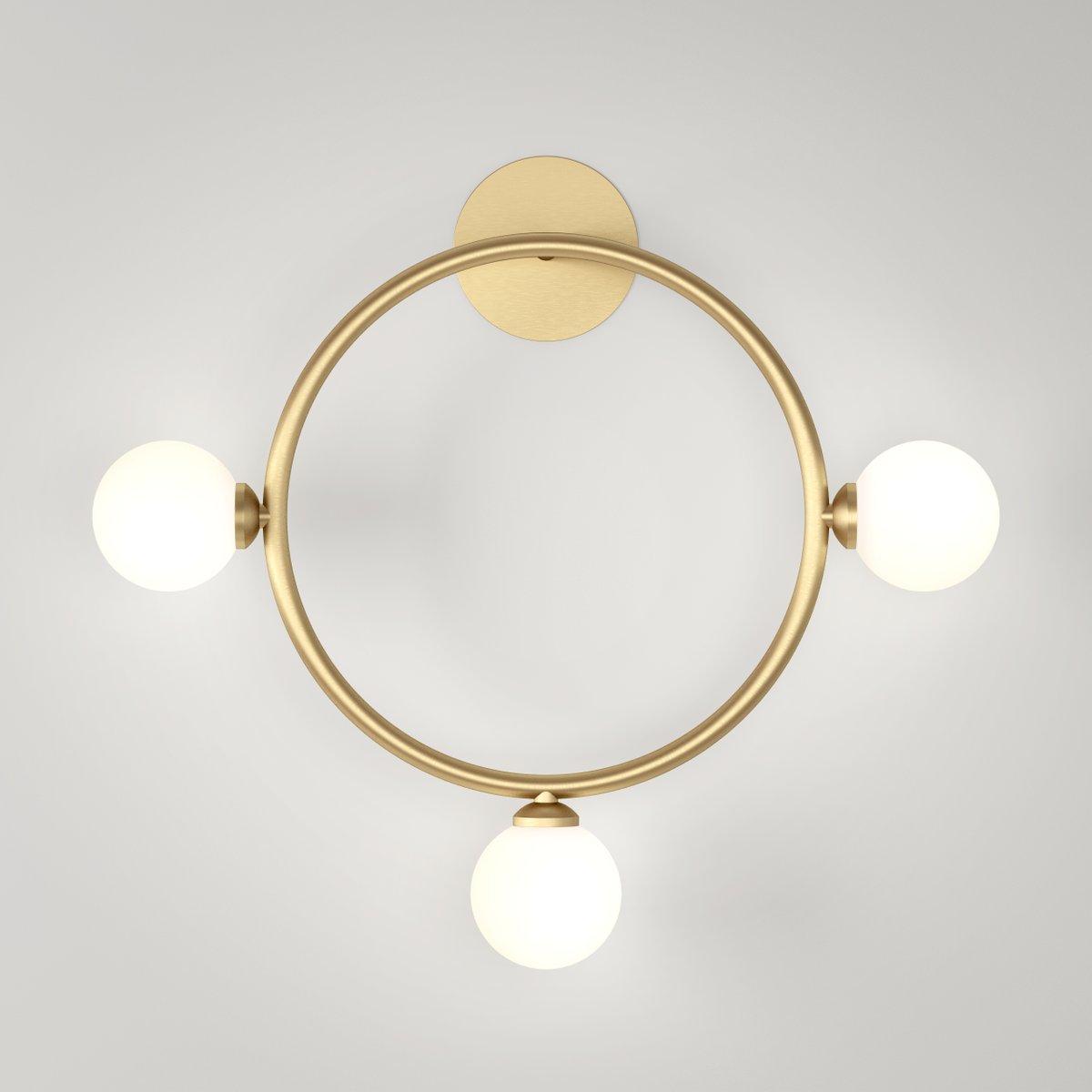 Circle Wandlampe mit 3 Glaskugeln von Atelier Areti
