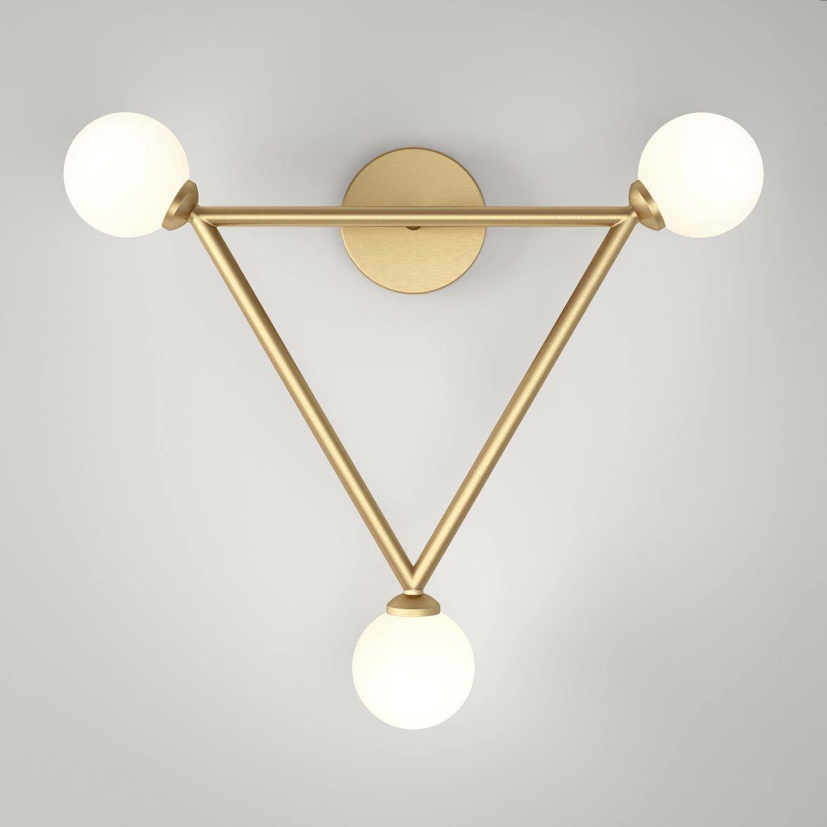 Triangle Wandlampe mit 3 Glaskugeln von Atelier Areti